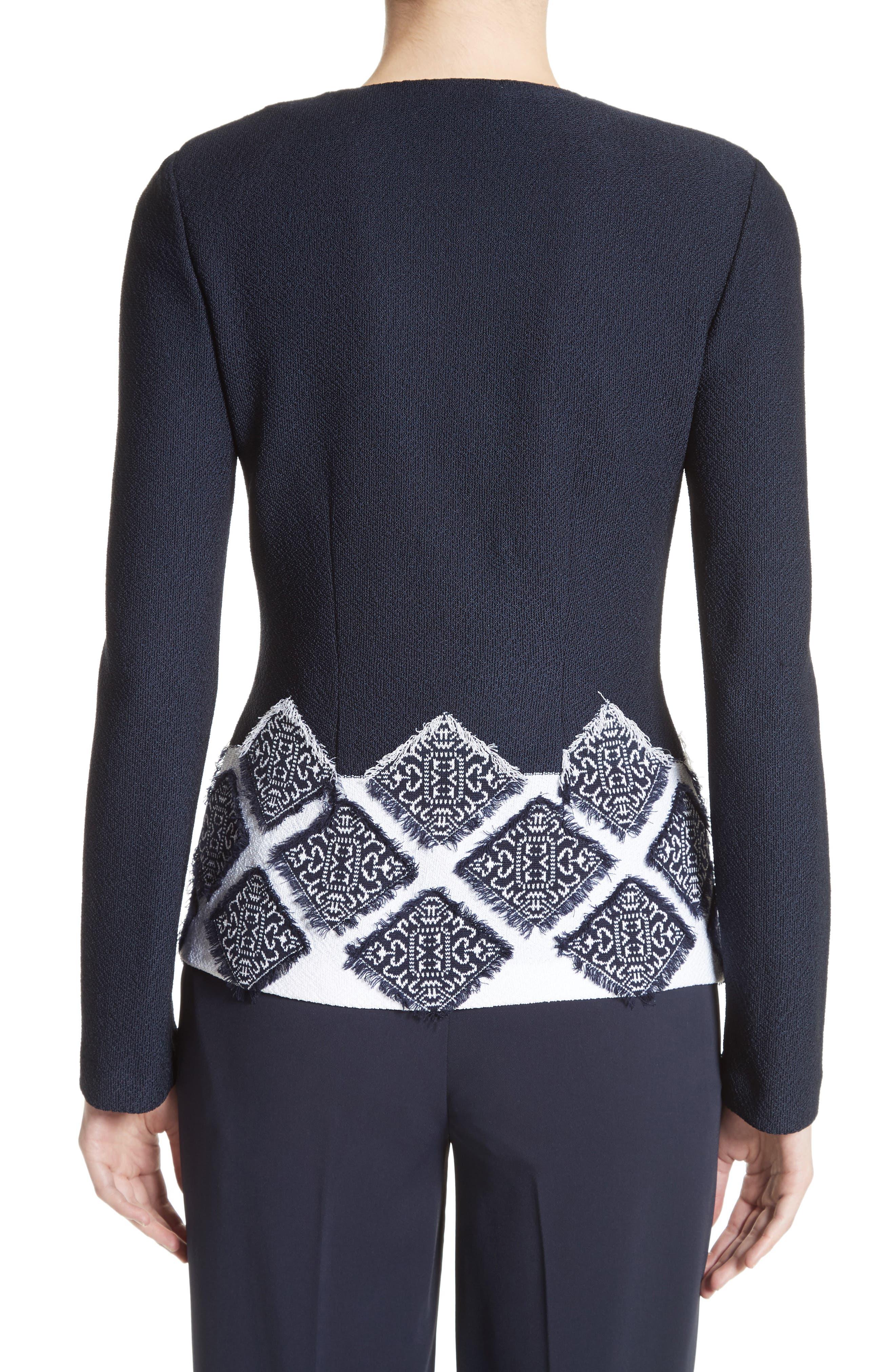 Ahem Knit Fil Coupé Jacket,                             Alternate thumbnail 2, color,                             410