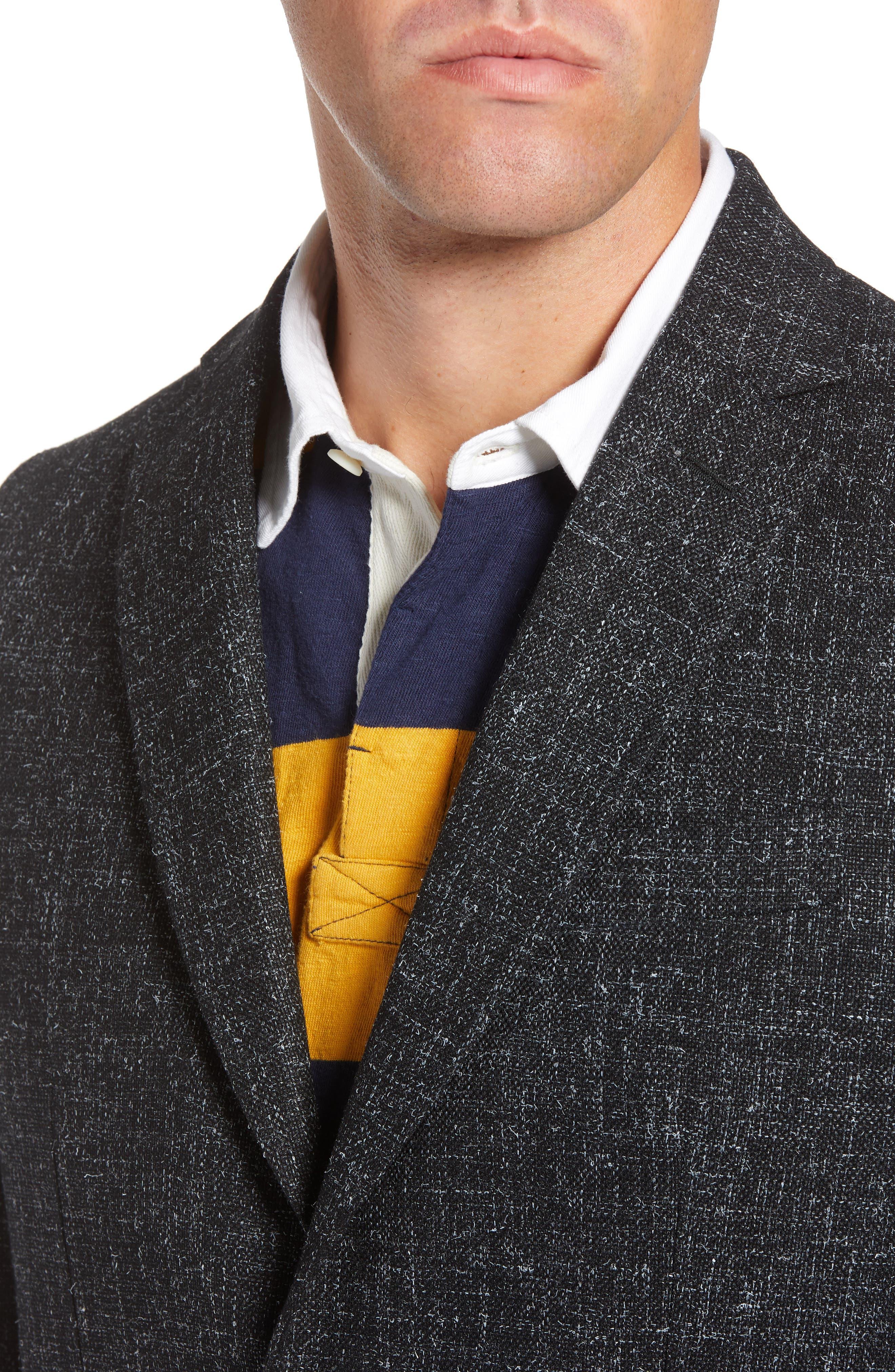 1901,                             Extra Trim Fit Wool Blend Sport Coat,                             Alternate thumbnail 4, color,                             001