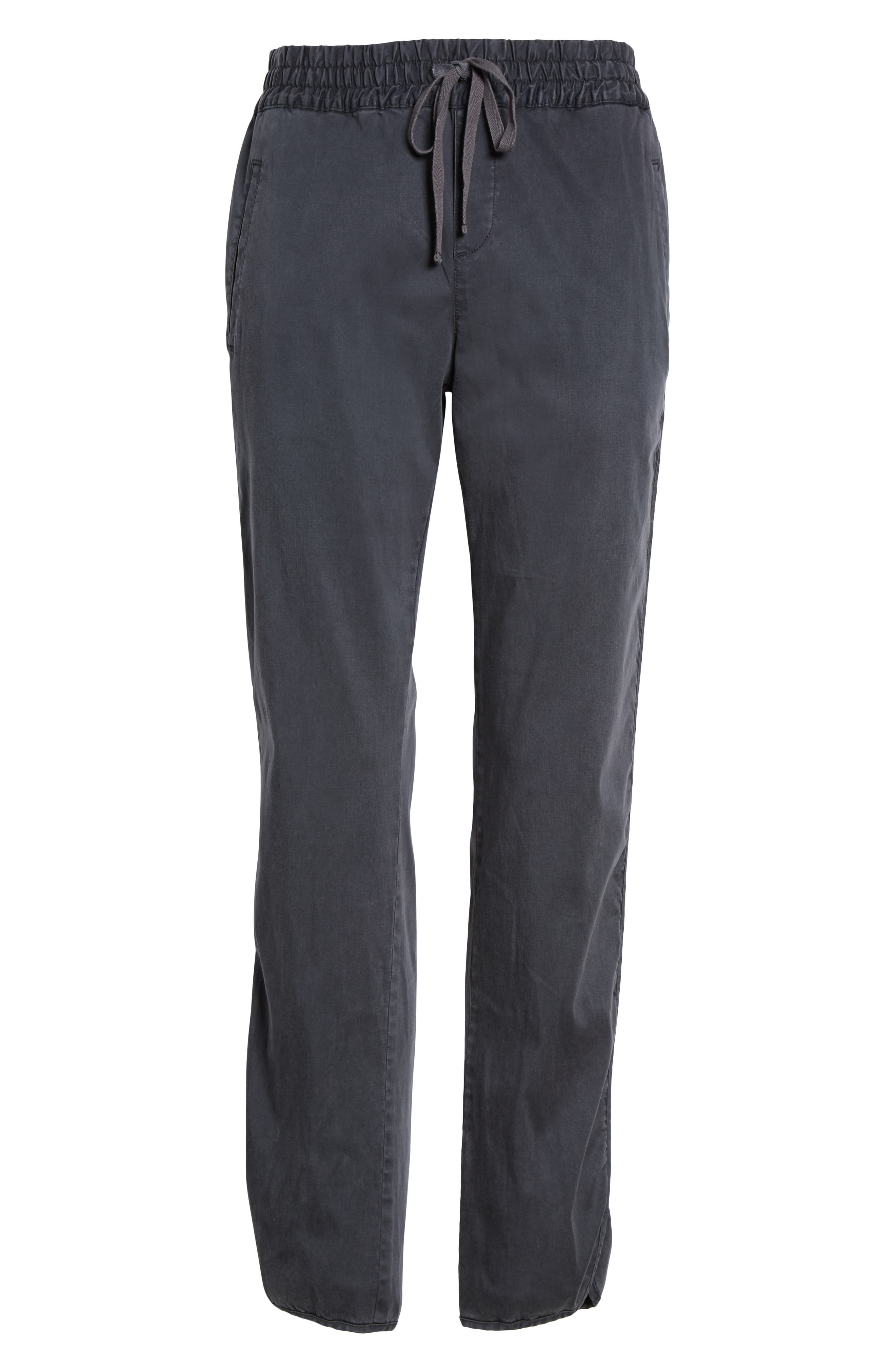 CASLON<SUP>®</SUP>,                             Sandwashed Pull-On Pants,                             Alternate thumbnail 6, color,                             GREY EBONY