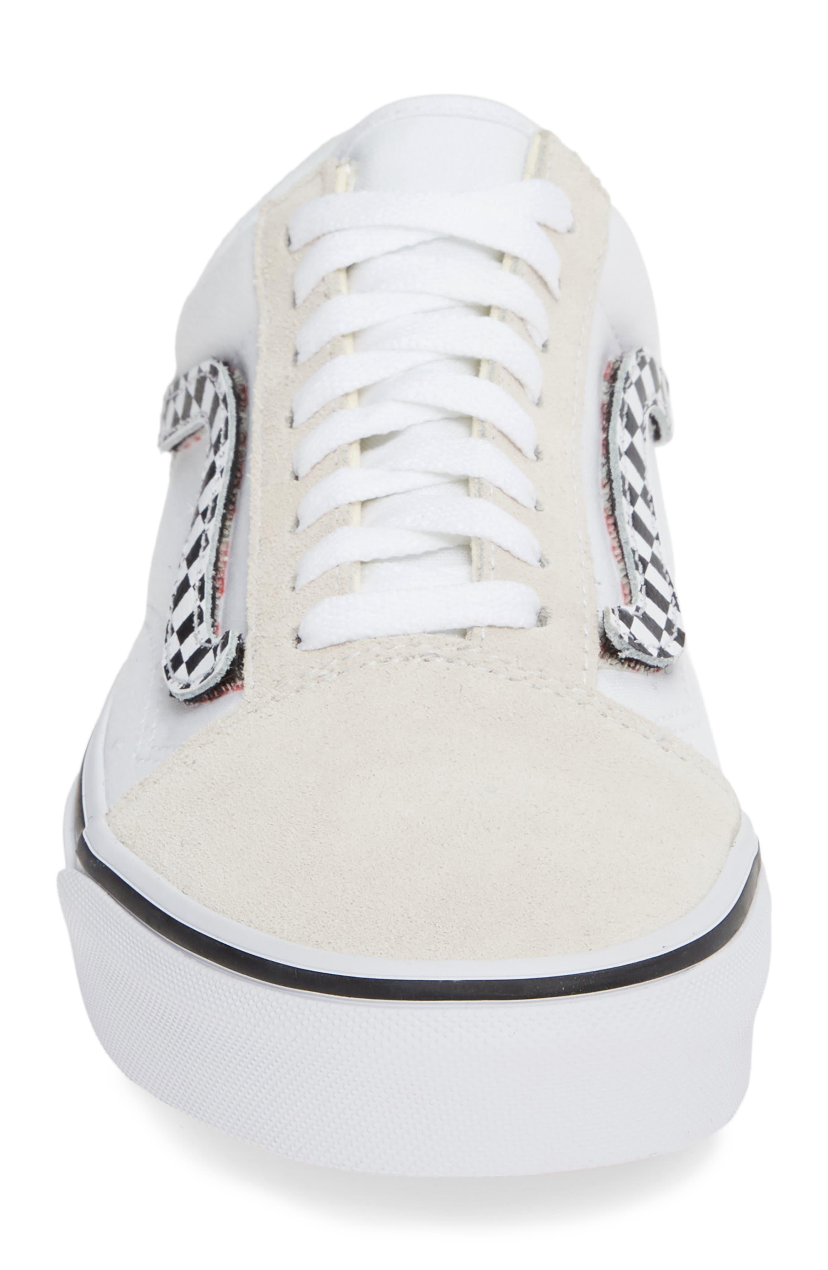 VANS,                             Old Skool Sneaker,                             Alternate thumbnail 4, color,                             TRUE WHITE/ TRUE WHITE