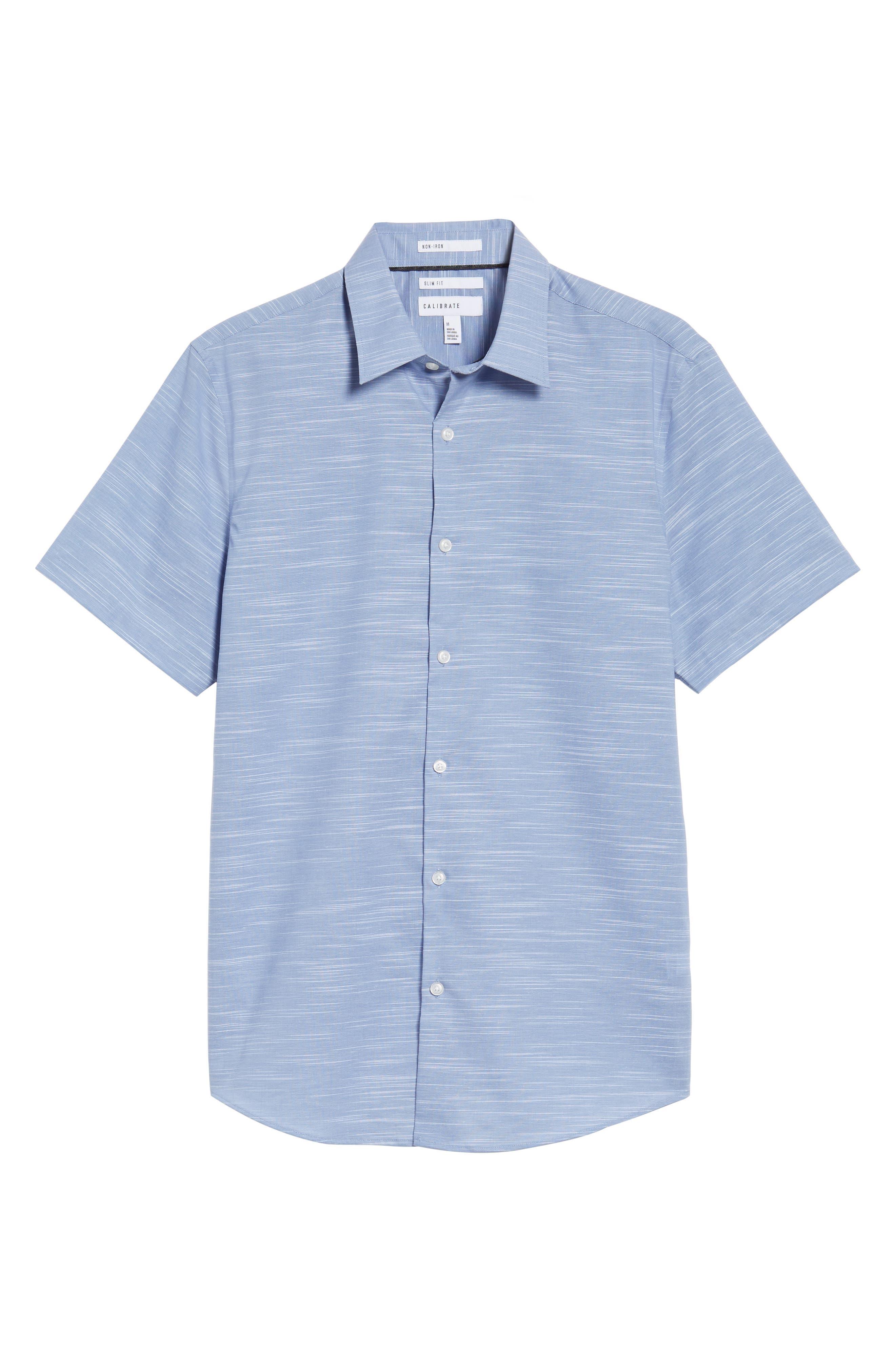Calilbrate Slim Fit Slub Woven Shirt,                             Alternate thumbnail 17, color,