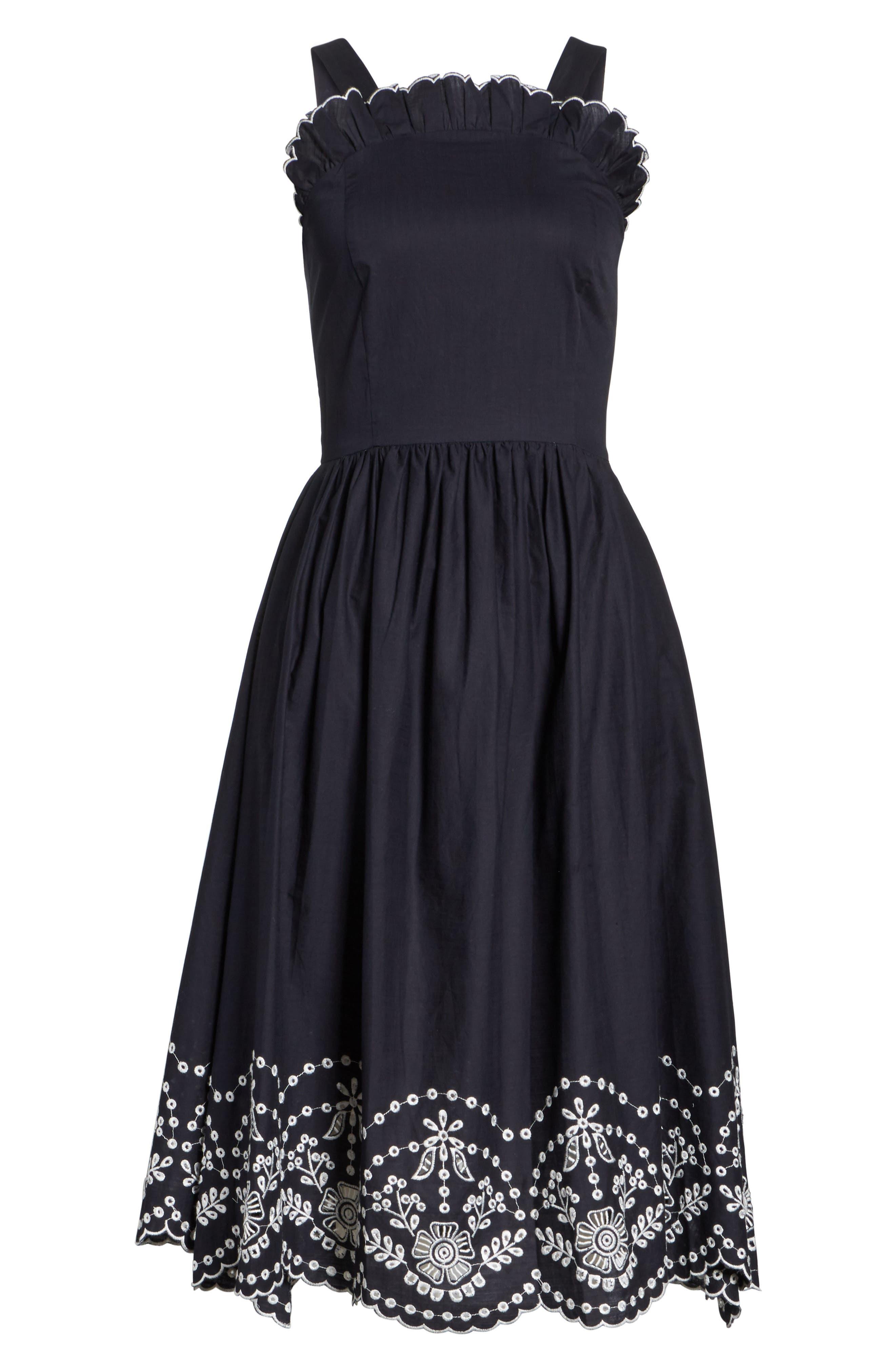 Alouette Eyelet Hem Dress,                             Alternate thumbnail 7, color,                             400