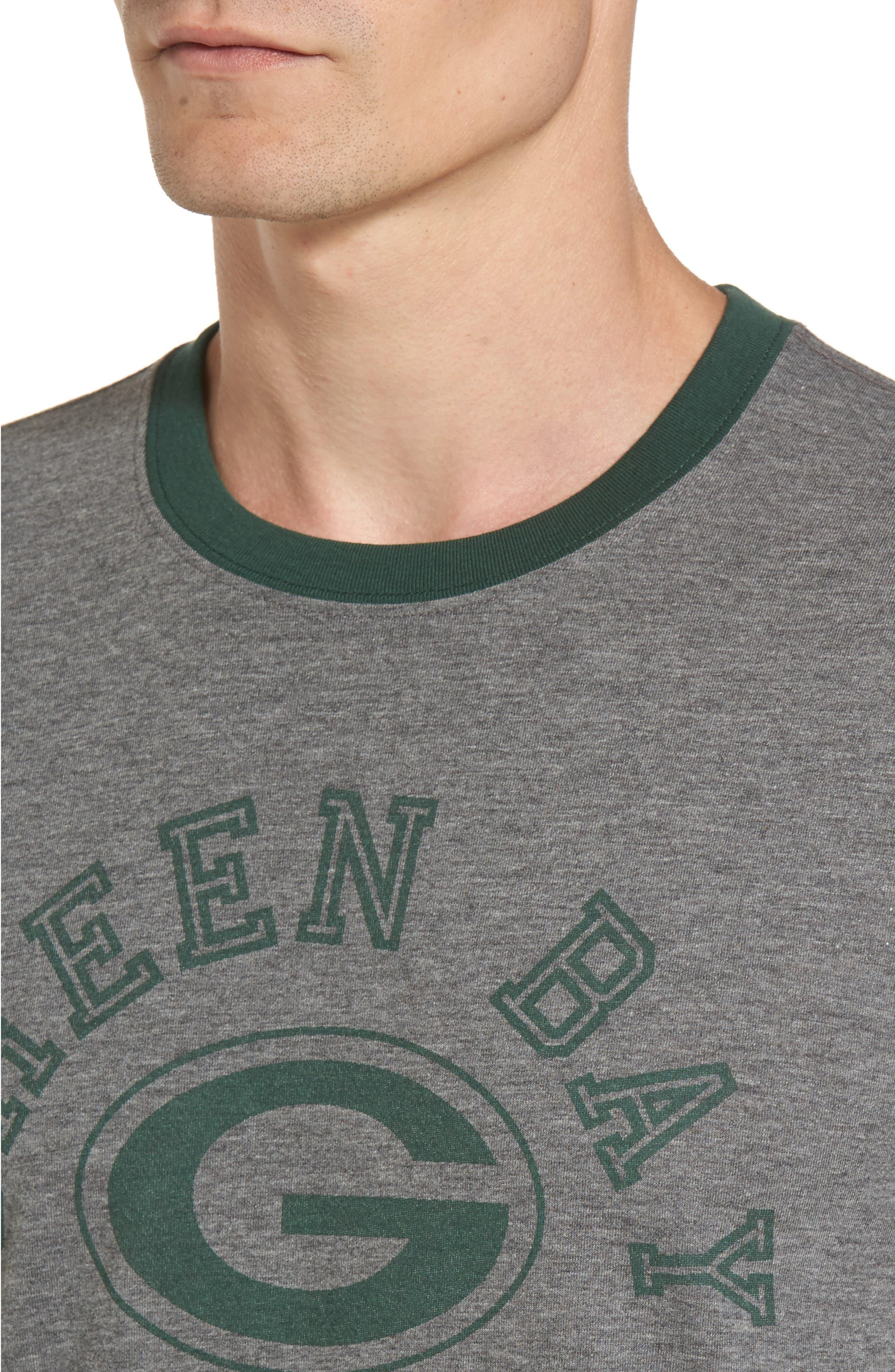 Green Bay Packers Ringer T-Shirt,                             Alternate thumbnail 4, color,                             021
