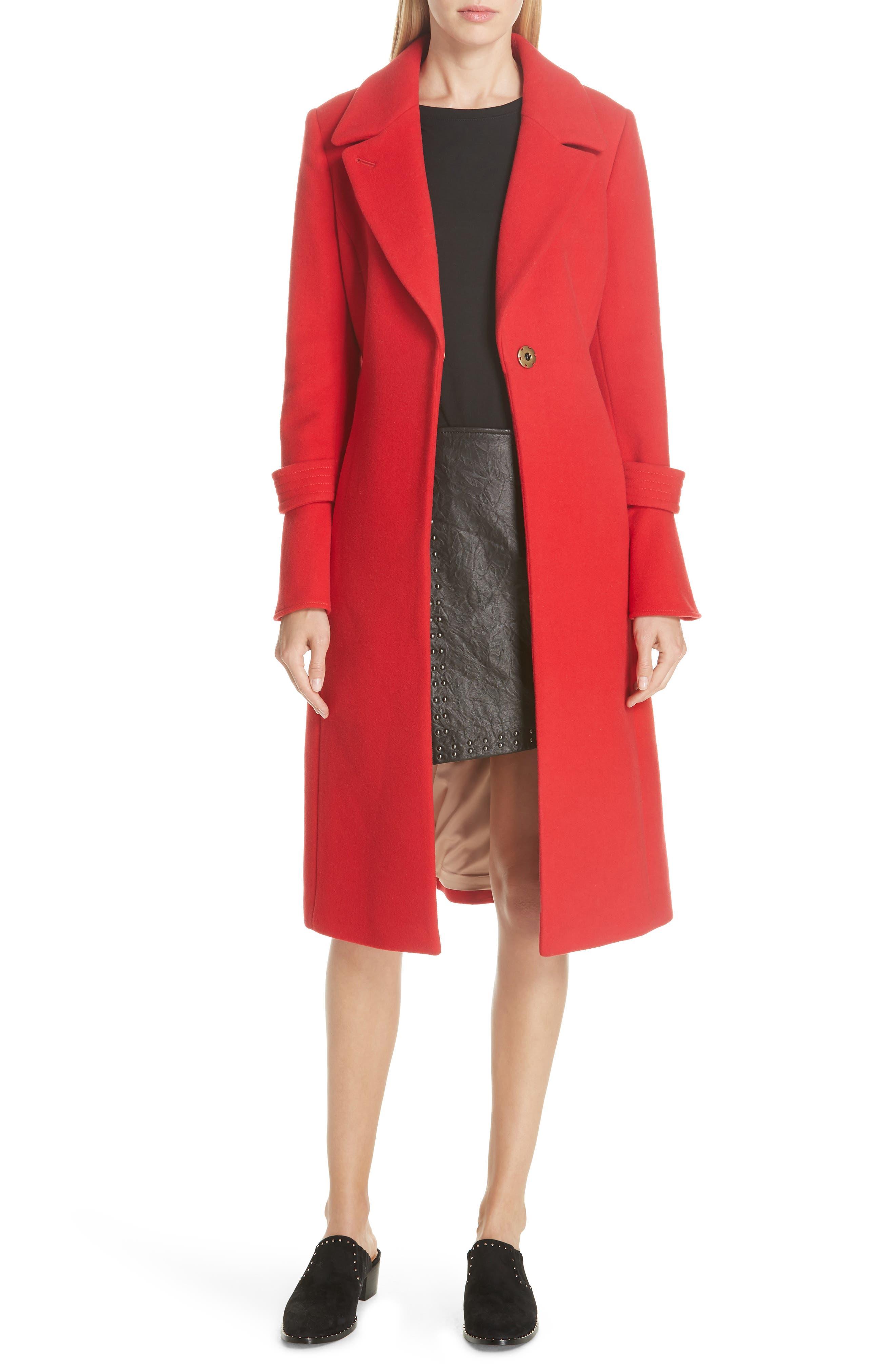 Hersilia Wool Blend Coat,                             Main thumbnail 1, color,                             600
