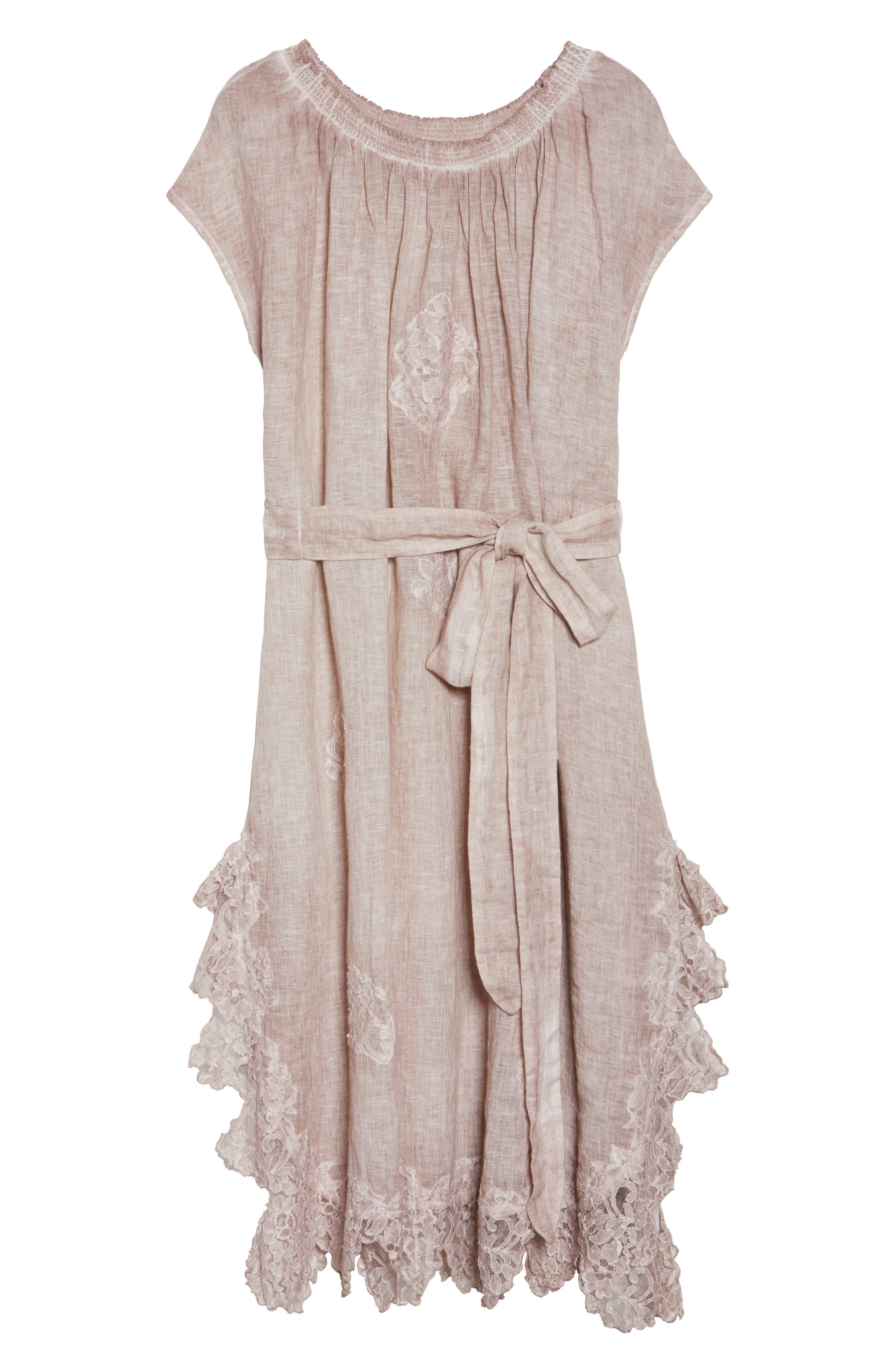 Daisy Linen Cover-Up Dress,                             Alternate thumbnail 6, color,                             652