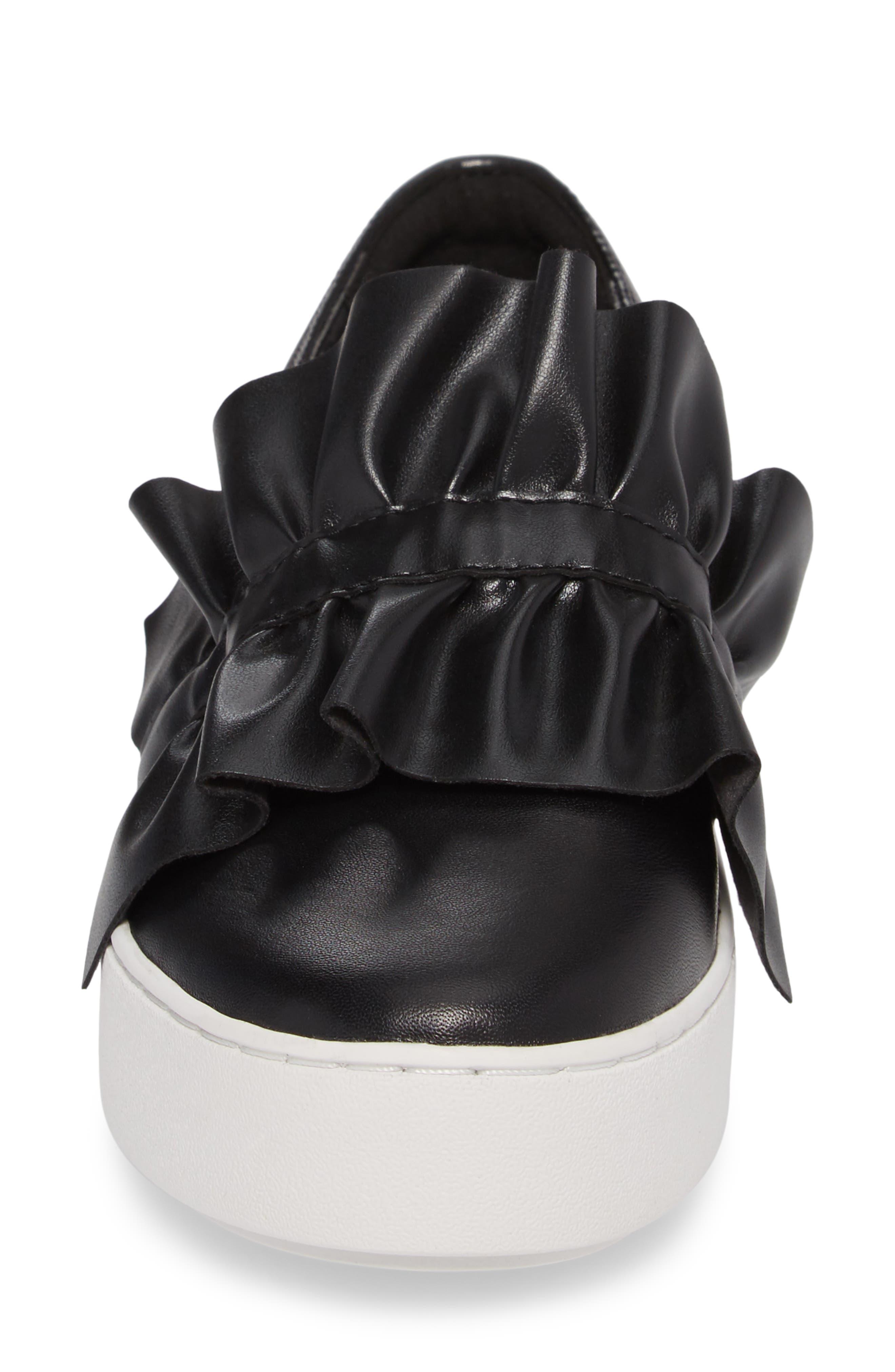 Bella Slip-On Sneaker,                             Alternate thumbnail 4, color,                             001