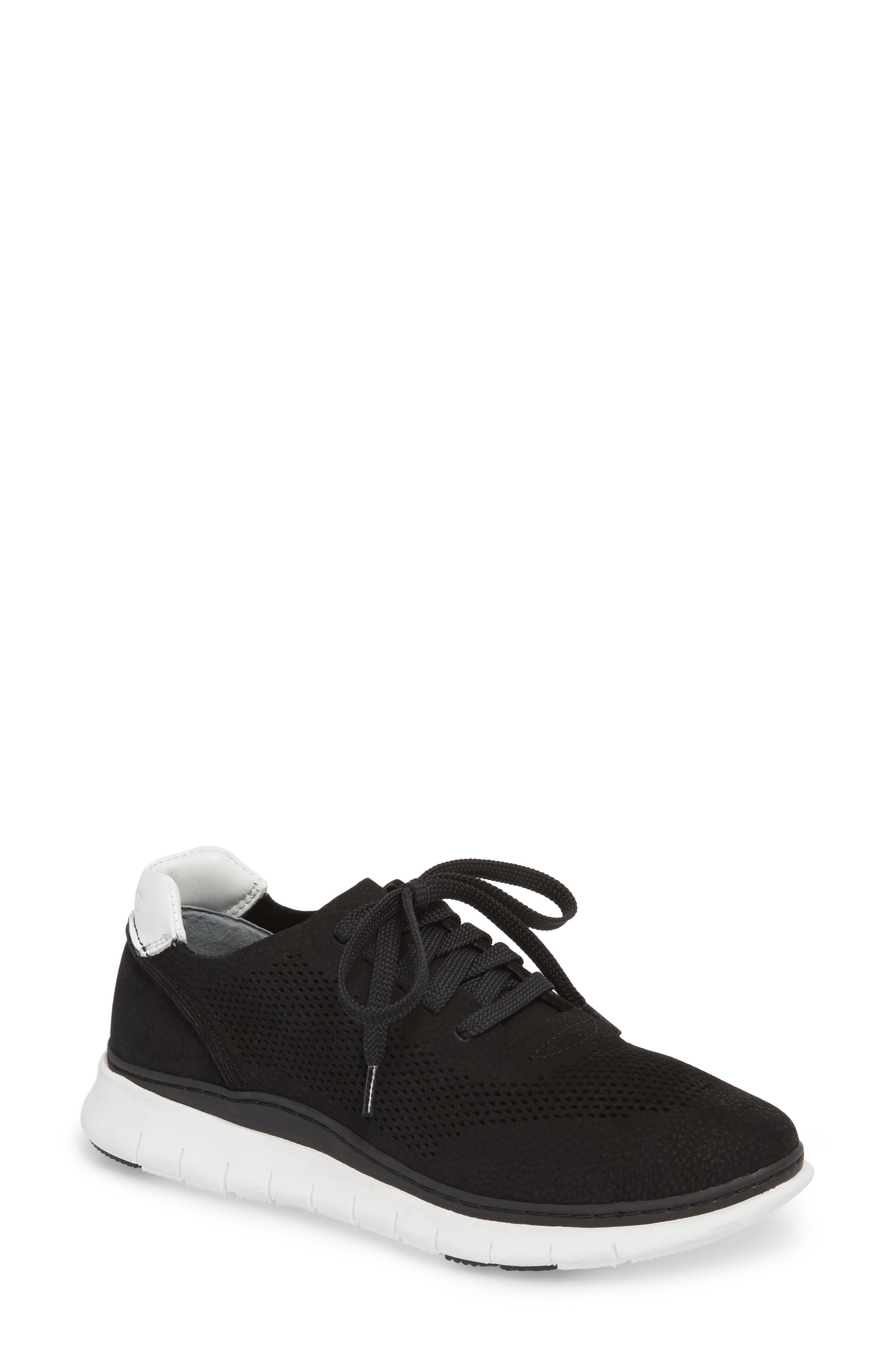 Joey Sneaker,                             Main thumbnail 1, color,                             BLACK NUBUCK LEATHER