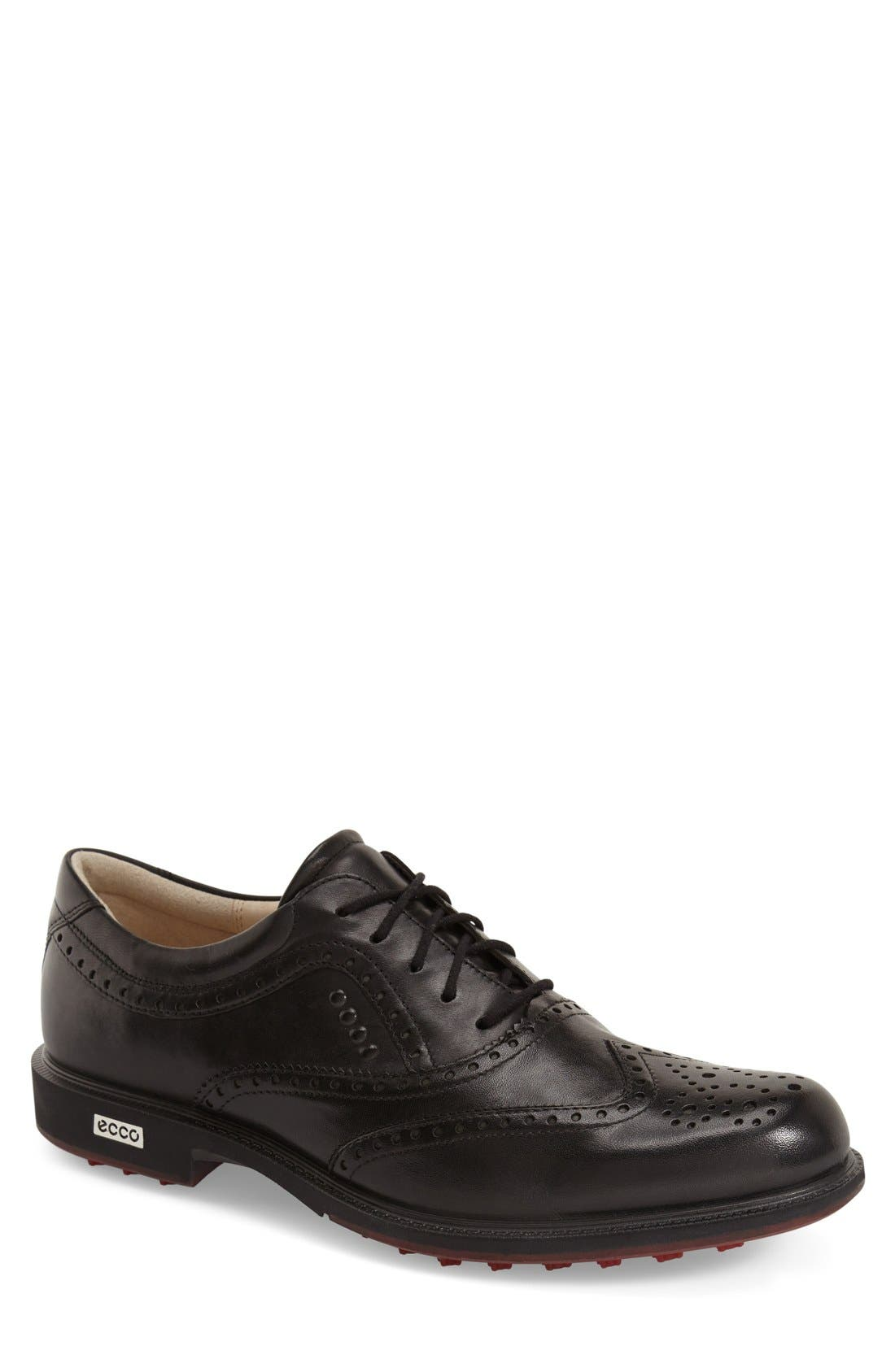 'Tour' Hybrid Wingtip Golf Shoe, Main, color, 011