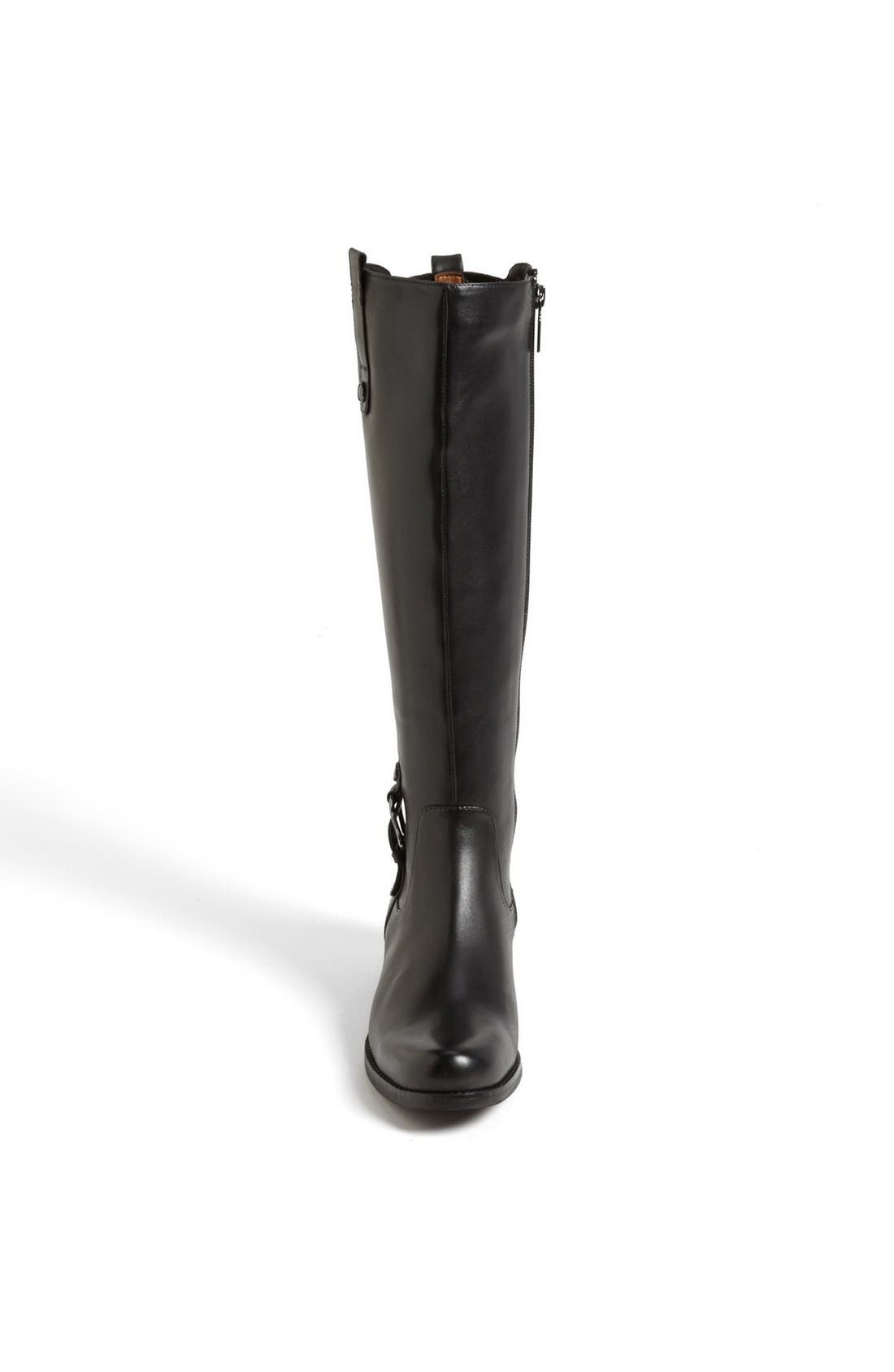 'Venise' Waterproof Leather Riding Boot,                             Alternate thumbnail 3, color,                             001