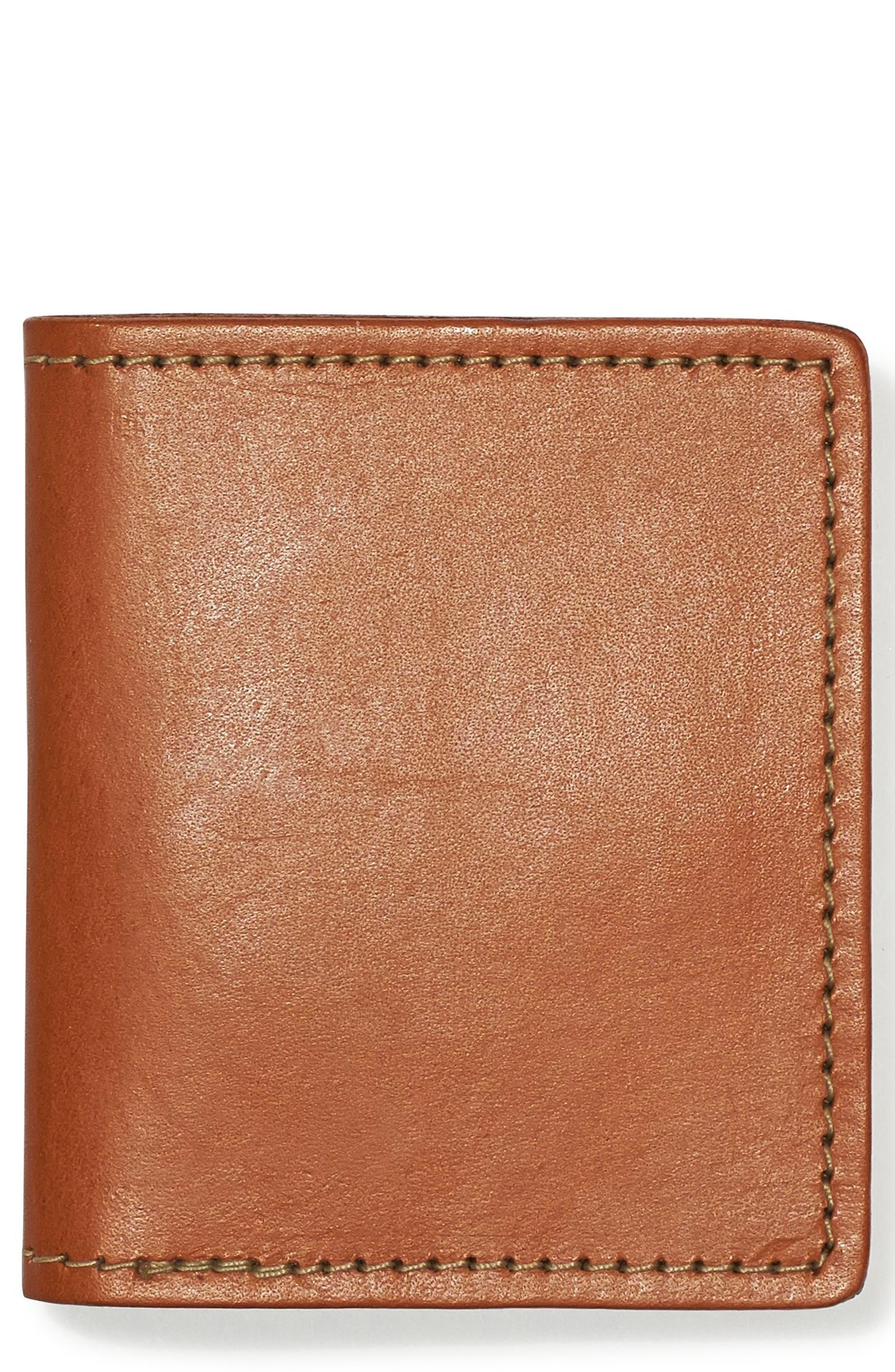 Leather Bifold Cash & Card Case,                             Main thumbnail 2, color,