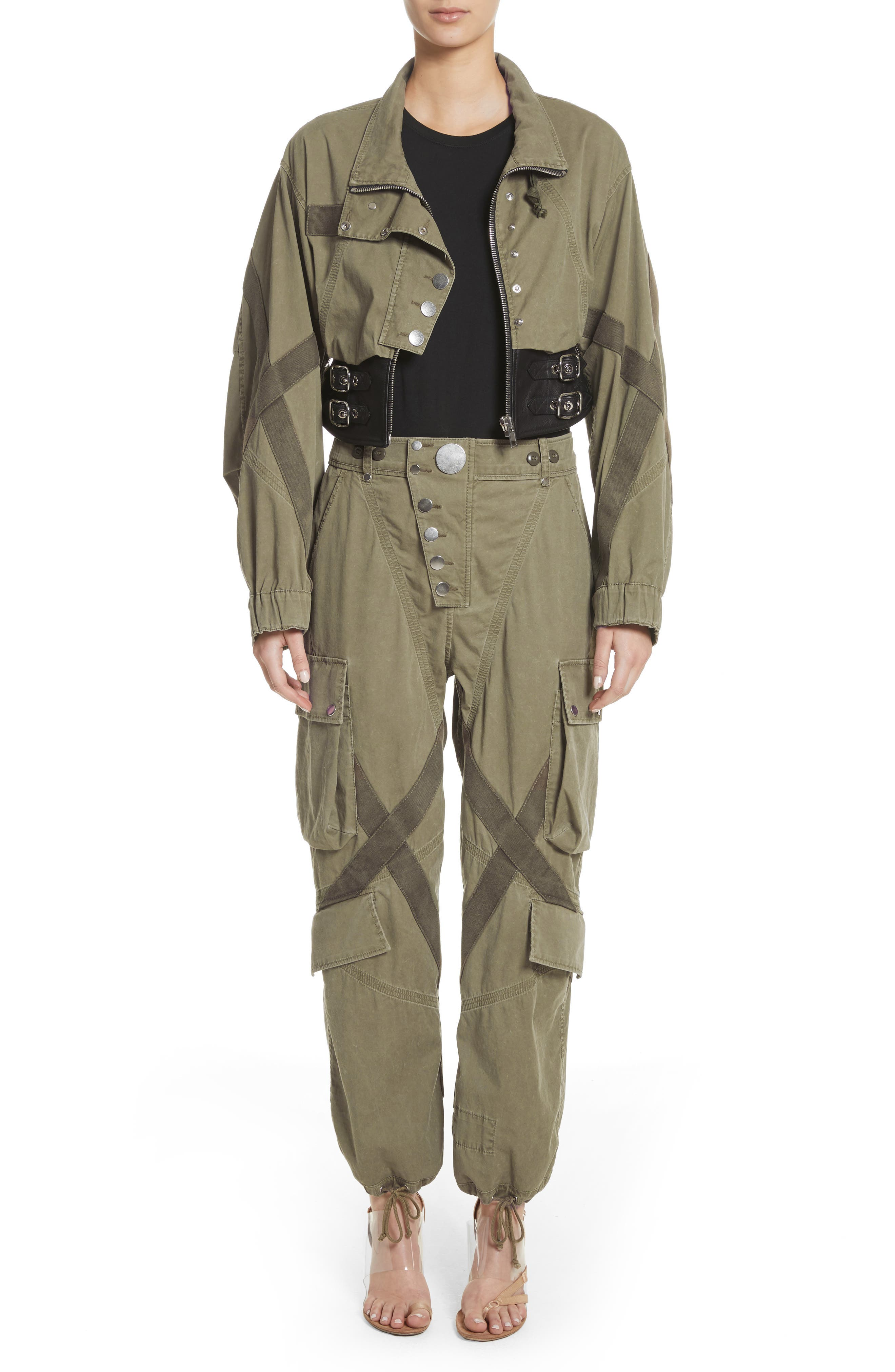Tie Cuff Army Trousers,                             Alternate thumbnail 7, color,                             327