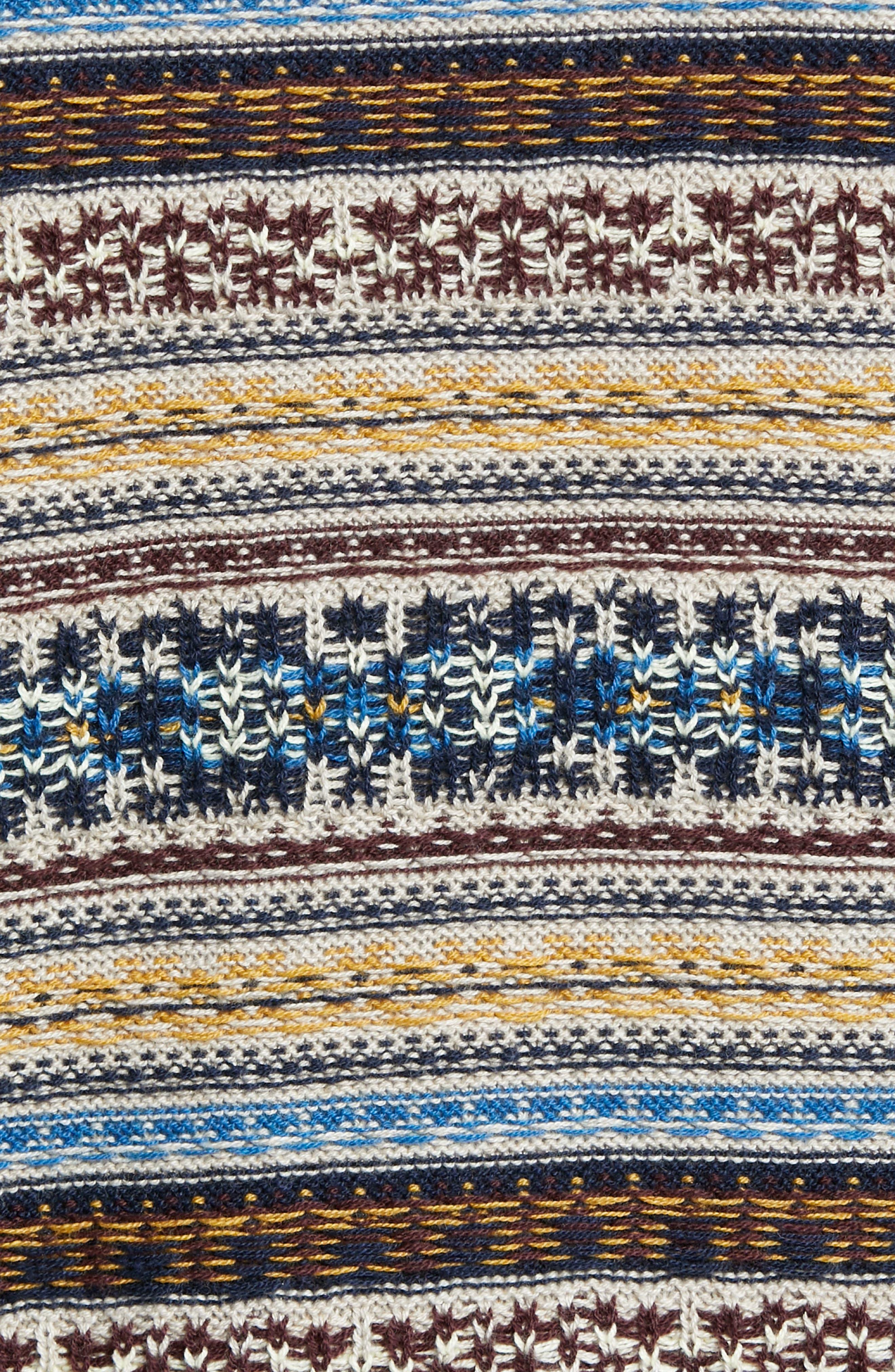 Regular Fit Fair Isle Crewneck Sweater,                             Alternate thumbnail 5, color,                             BROWN SIENA FAIRISLE