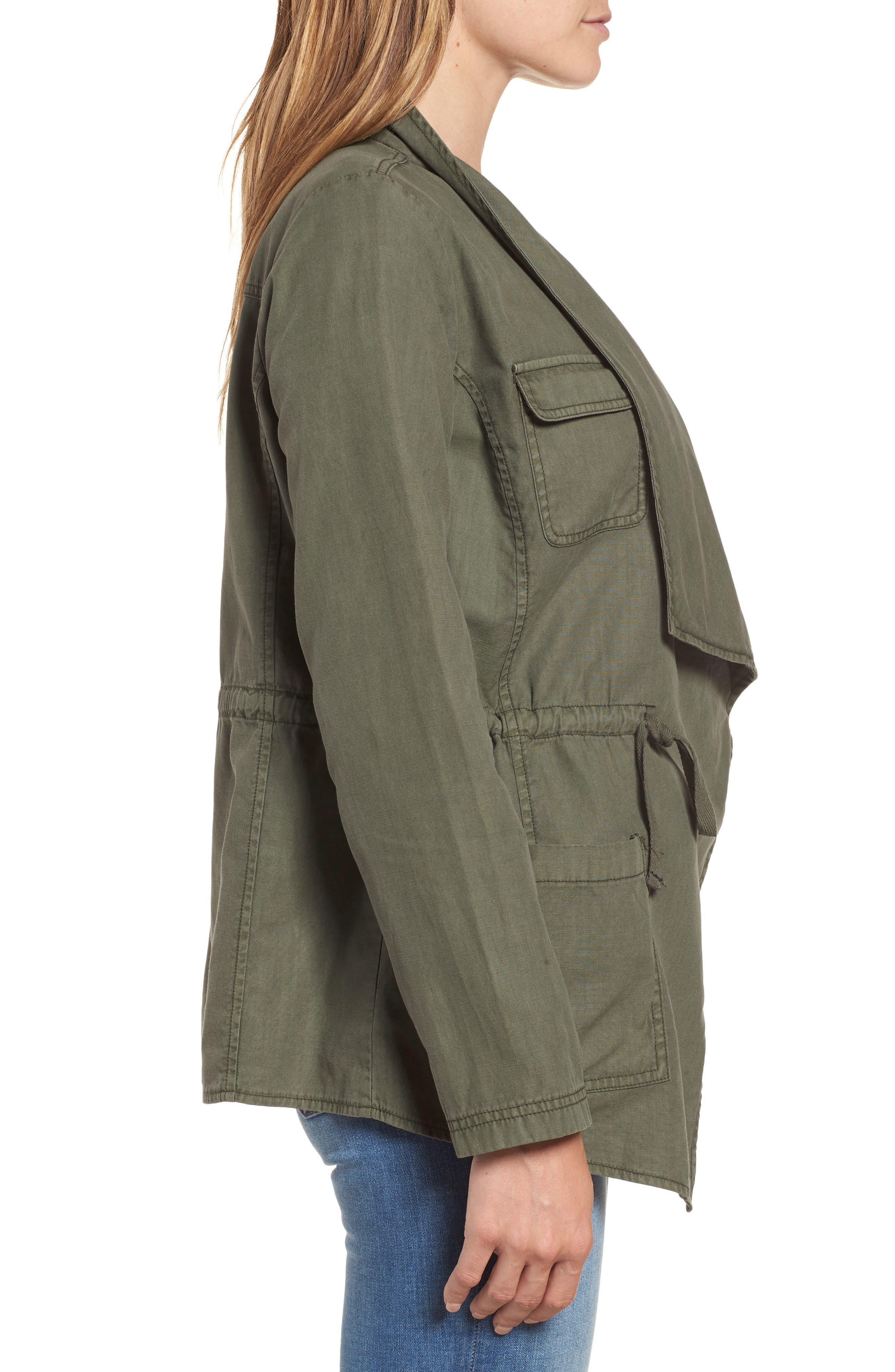 Draped Utility Jacket,                             Alternate thumbnail 9, color,
