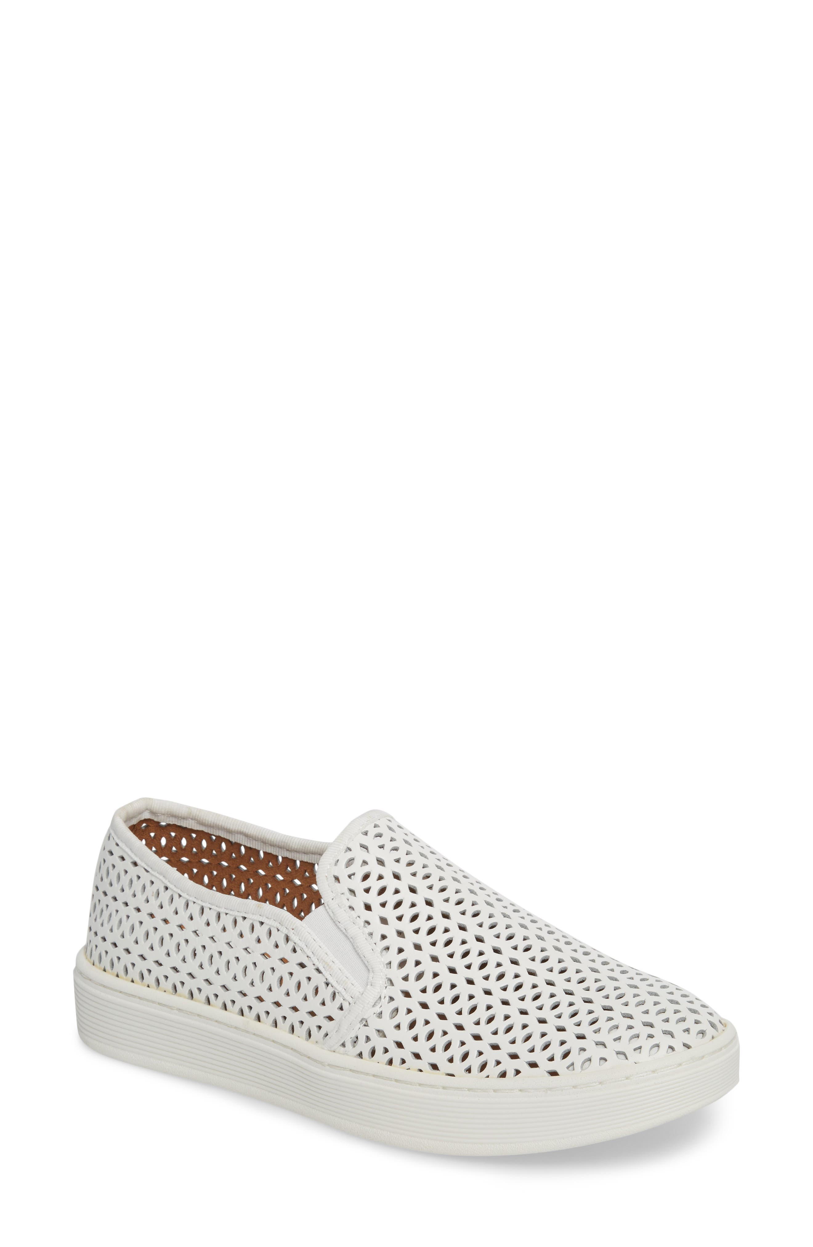 Somers II Slip-On Sneaker,                             Main thumbnail 1, color,                             WHITE LEATHER