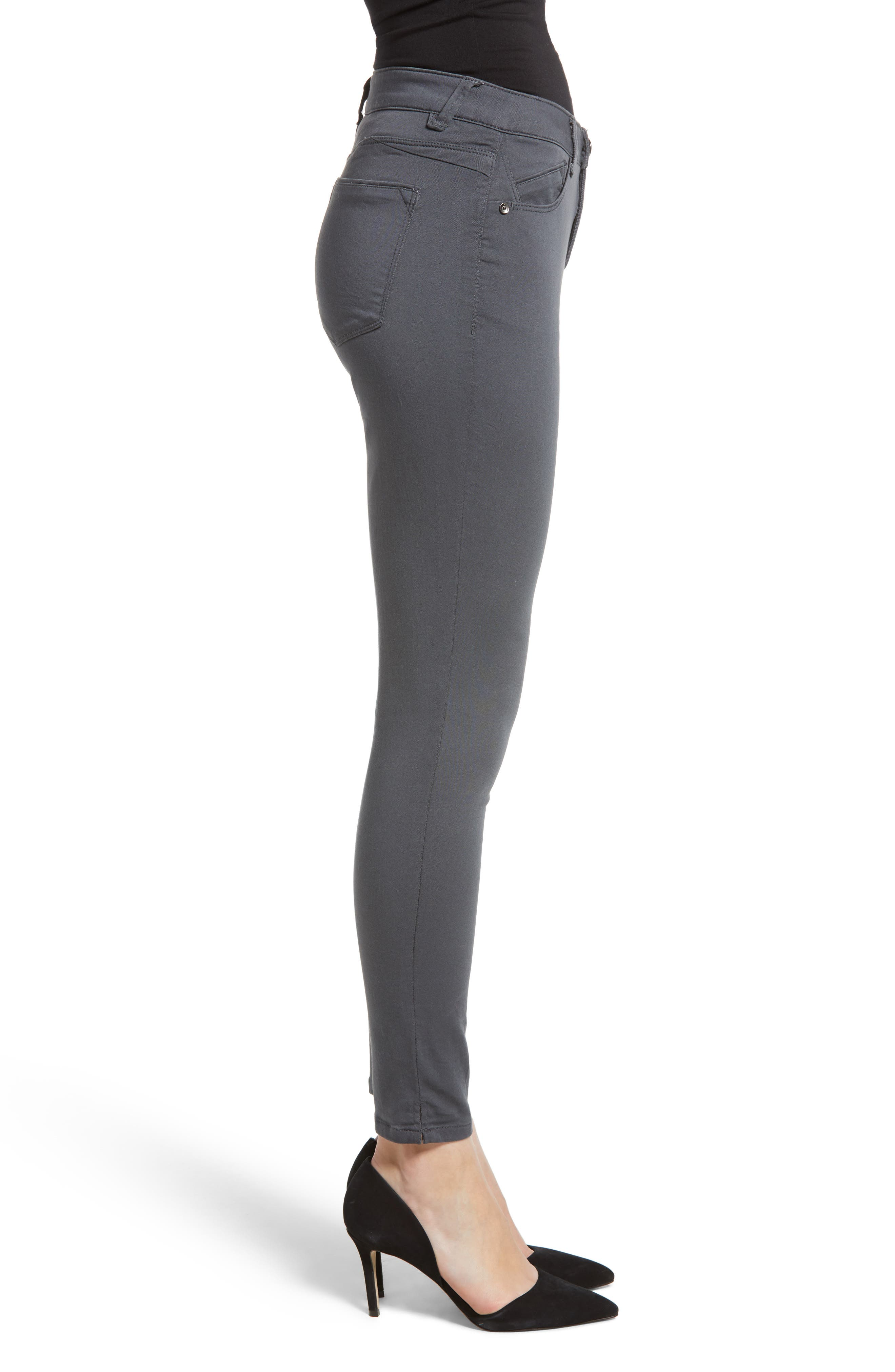 Wit and Wisdom Ab-Solution Ankle Skinny Pants,                             Alternate thumbnail 3, color,                             PEWTER