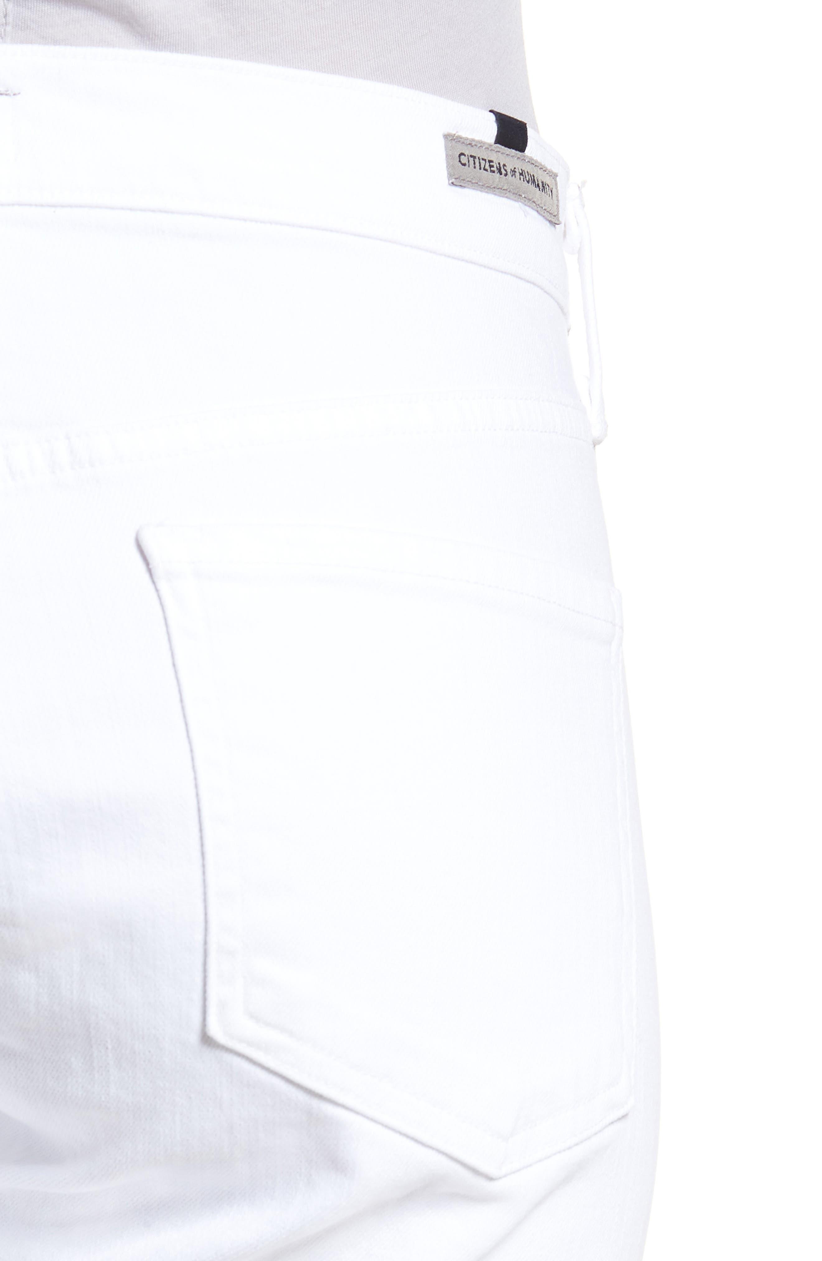 Elsa Ankle Skinny Jeans,                             Alternate thumbnail 4, color,                             OPTIC WHITE
