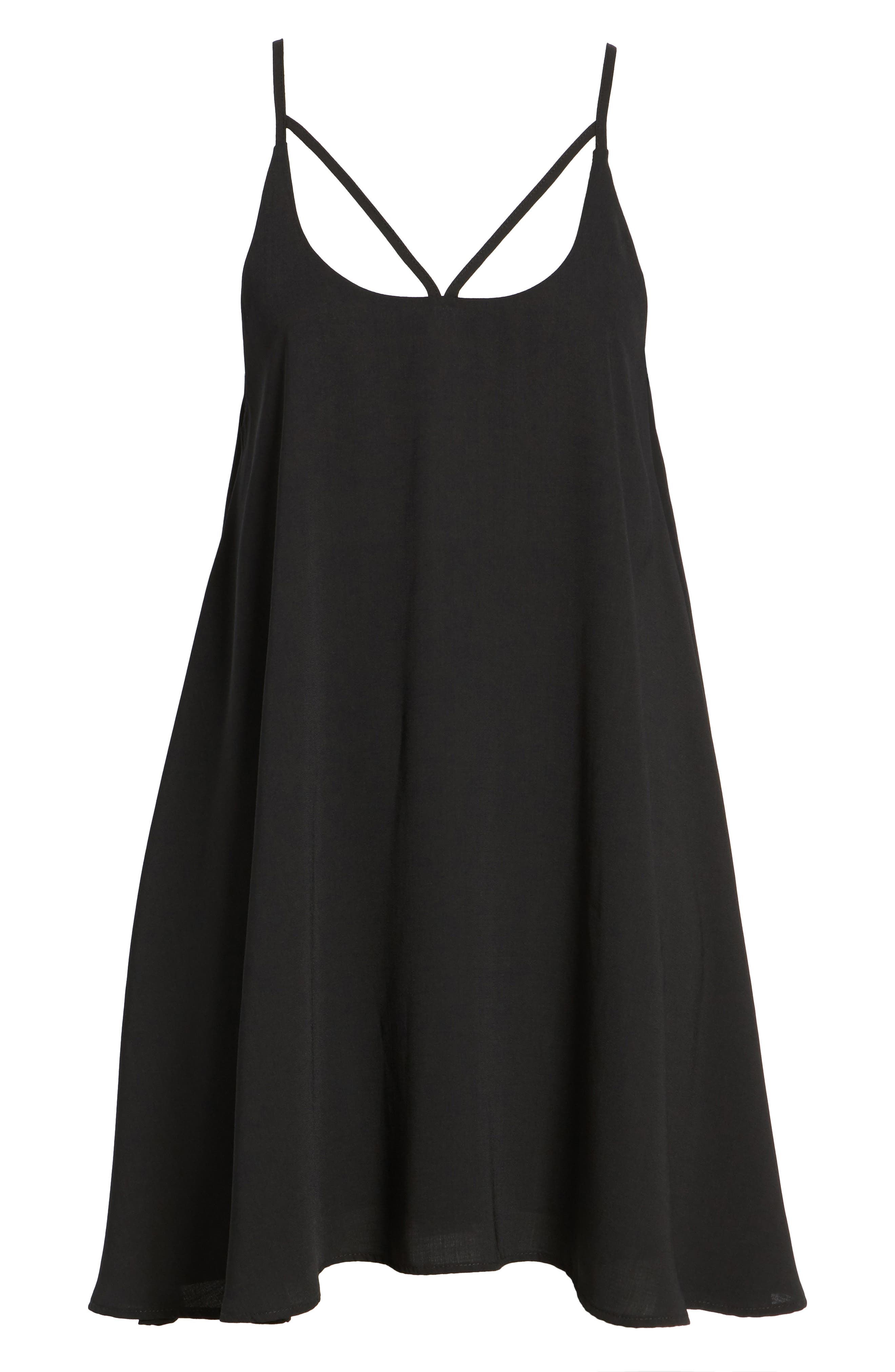 Strappy Camisole Dress,                             Alternate thumbnail 6, color,                             001