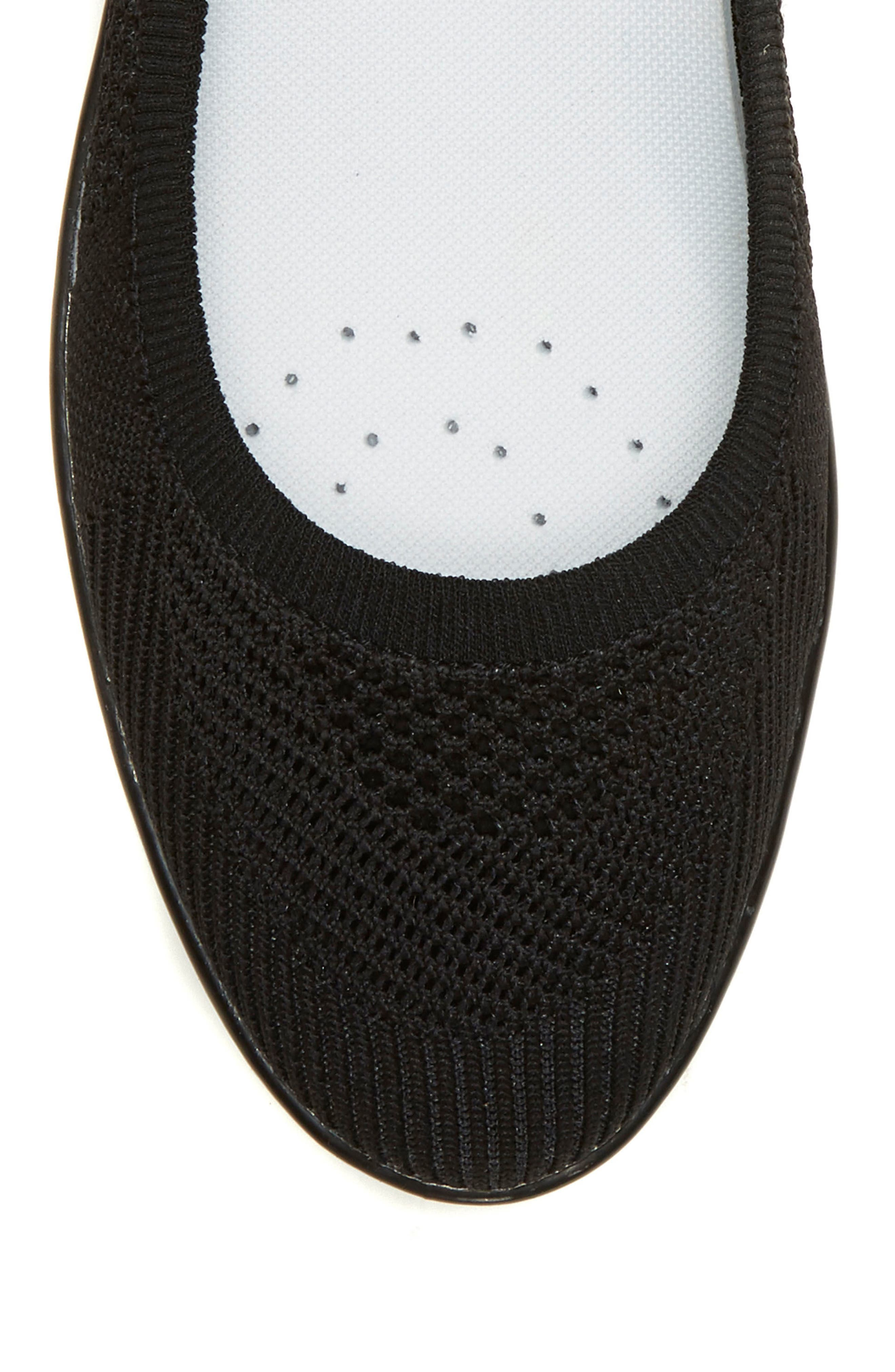 Afuera Flat,                             Alternate thumbnail 5, color,                             BLACK KNIT FABRIC