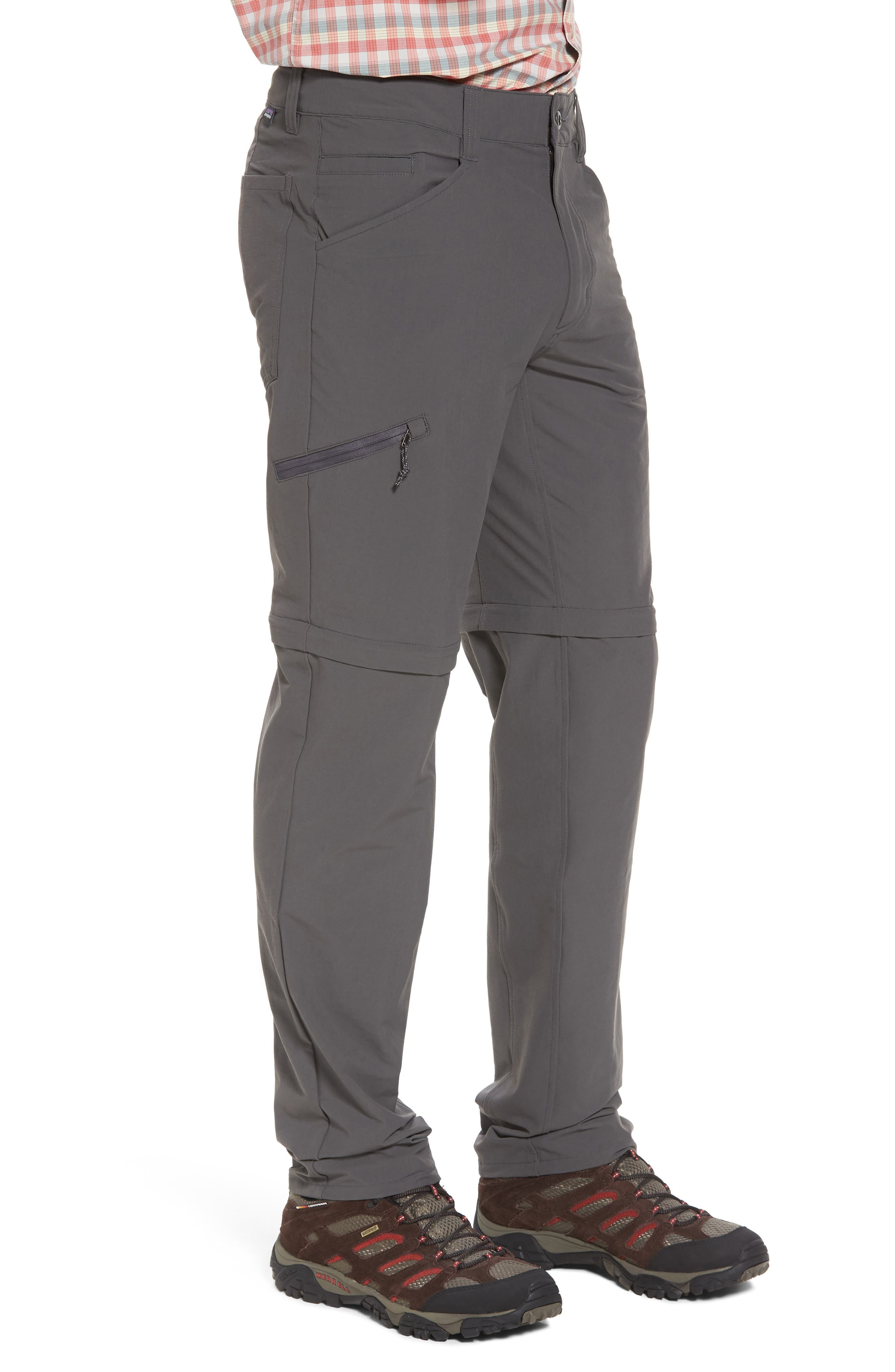 M's Quandry Convertible Pants,                             Alternate thumbnail 3, color,                             FORGE GREY