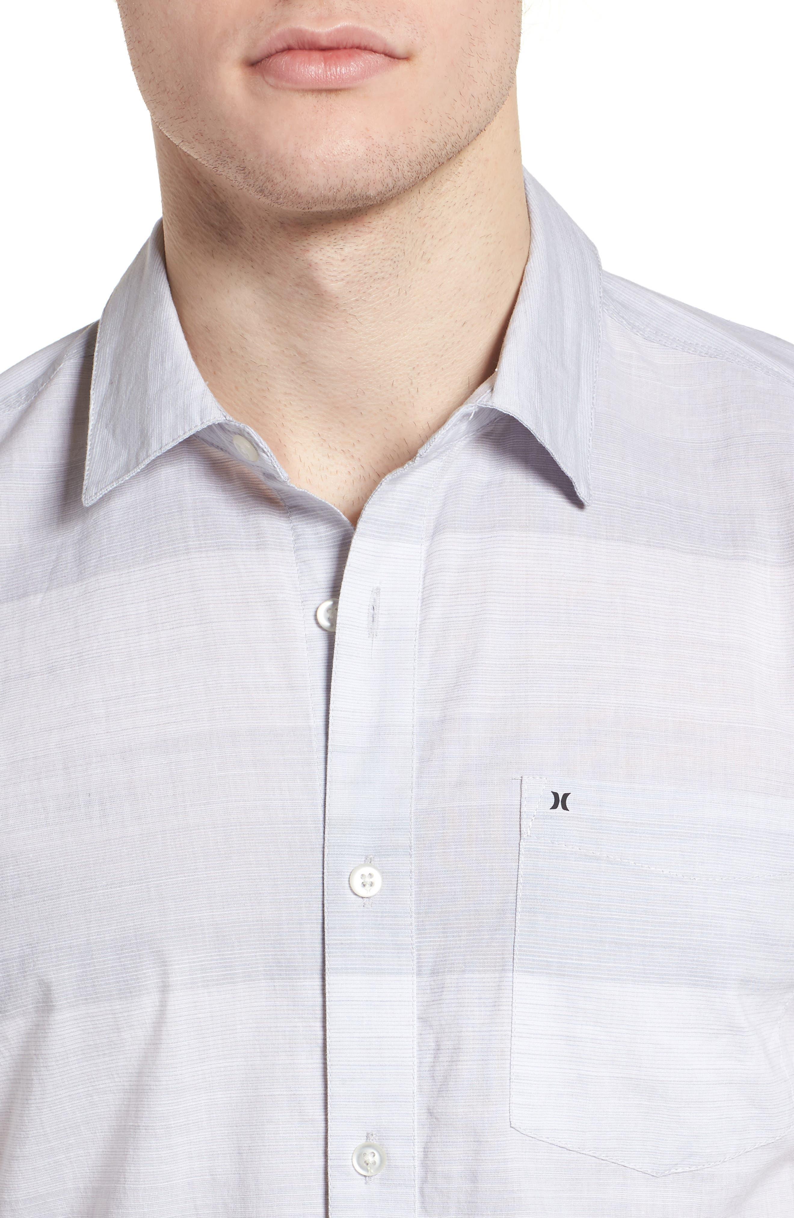 Morris Shirt,                             Alternate thumbnail 4, color,                             WOLF GREY