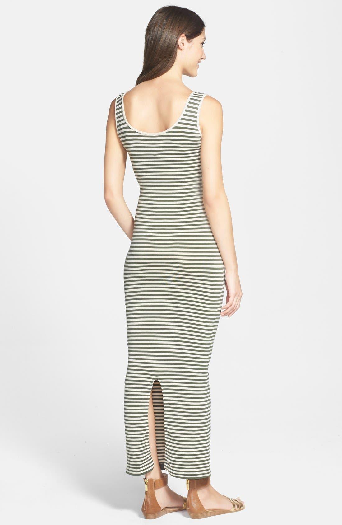 Micro Stripe Maternity Dress,                             Alternate thumbnail 7, color,                             300