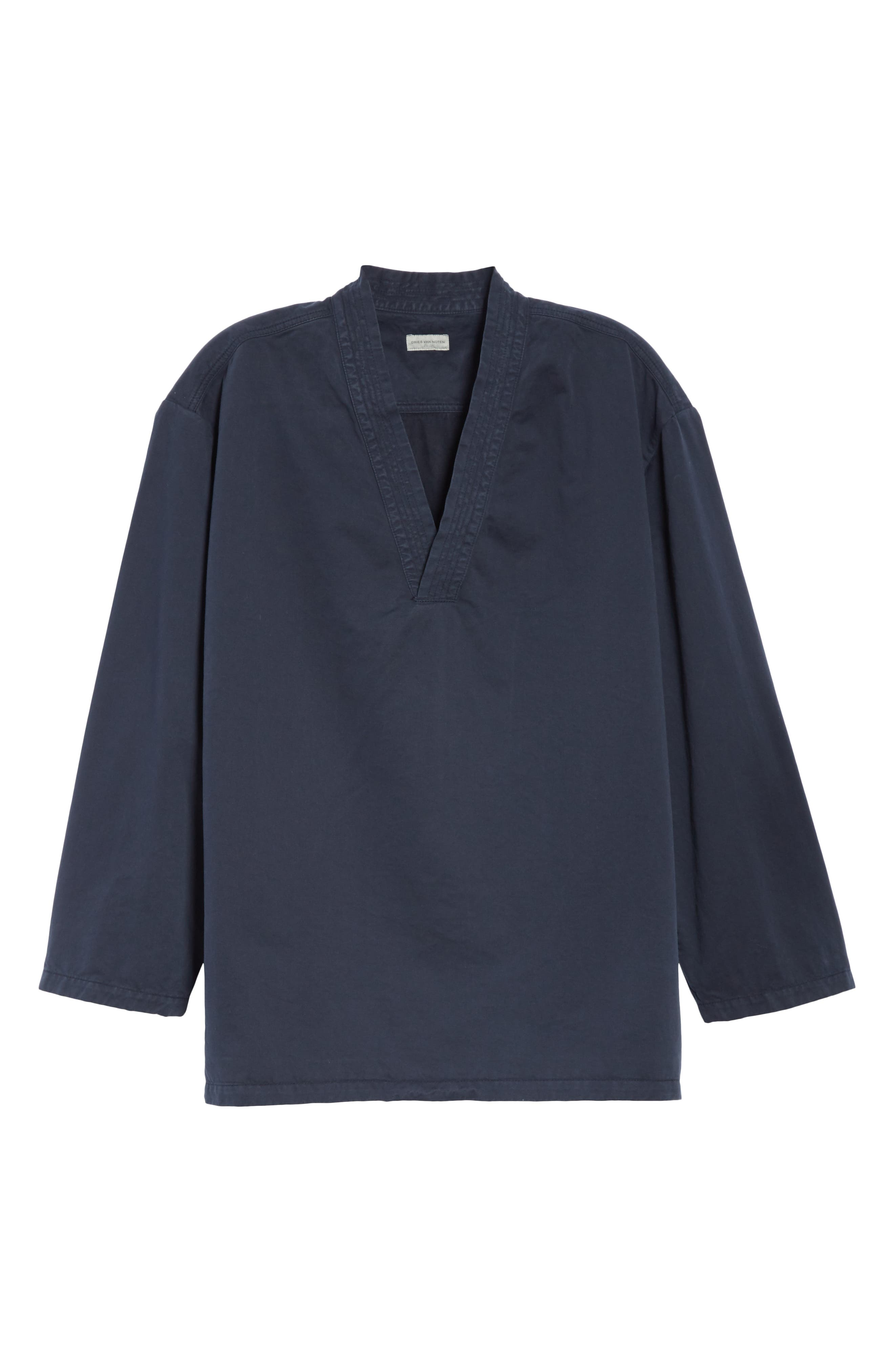 Canis Bis Kimono Pullover,                             Alternate thumbnail 6, color,                             NAVY 509