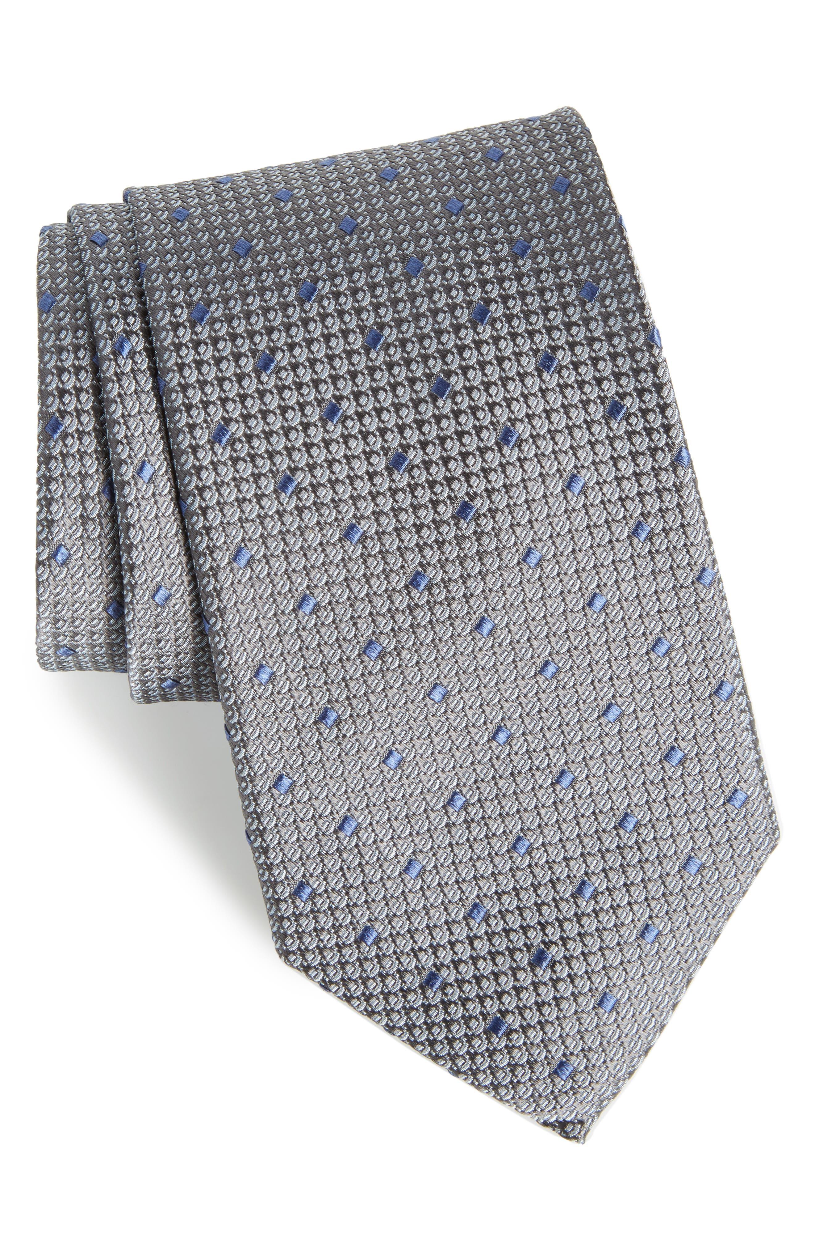 Contrada Dot Silk Tie,                         Main,                         color, 010