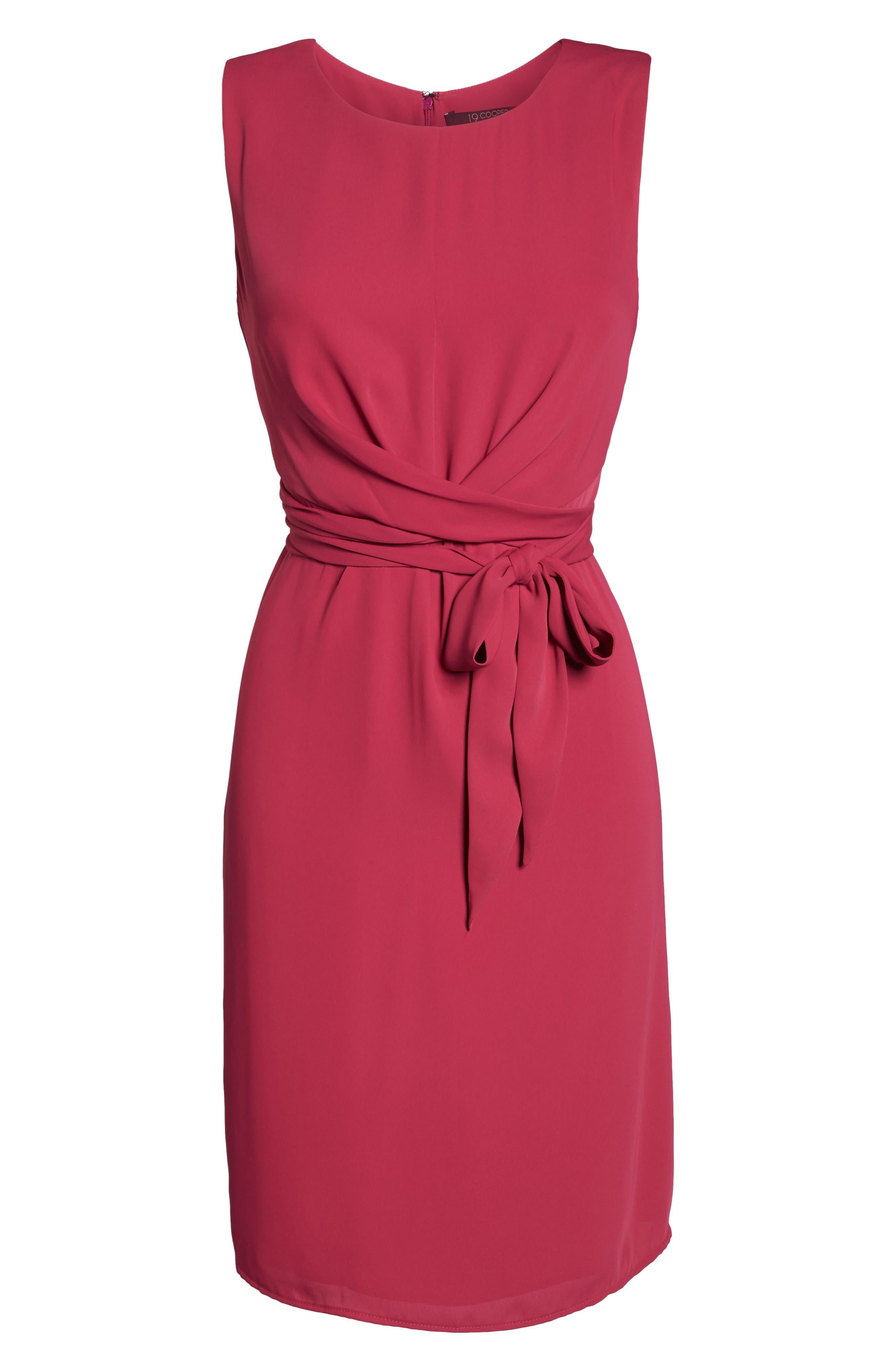 Tie Front Sheath Dress,                             Alternate thumbnail 6, color,                             690