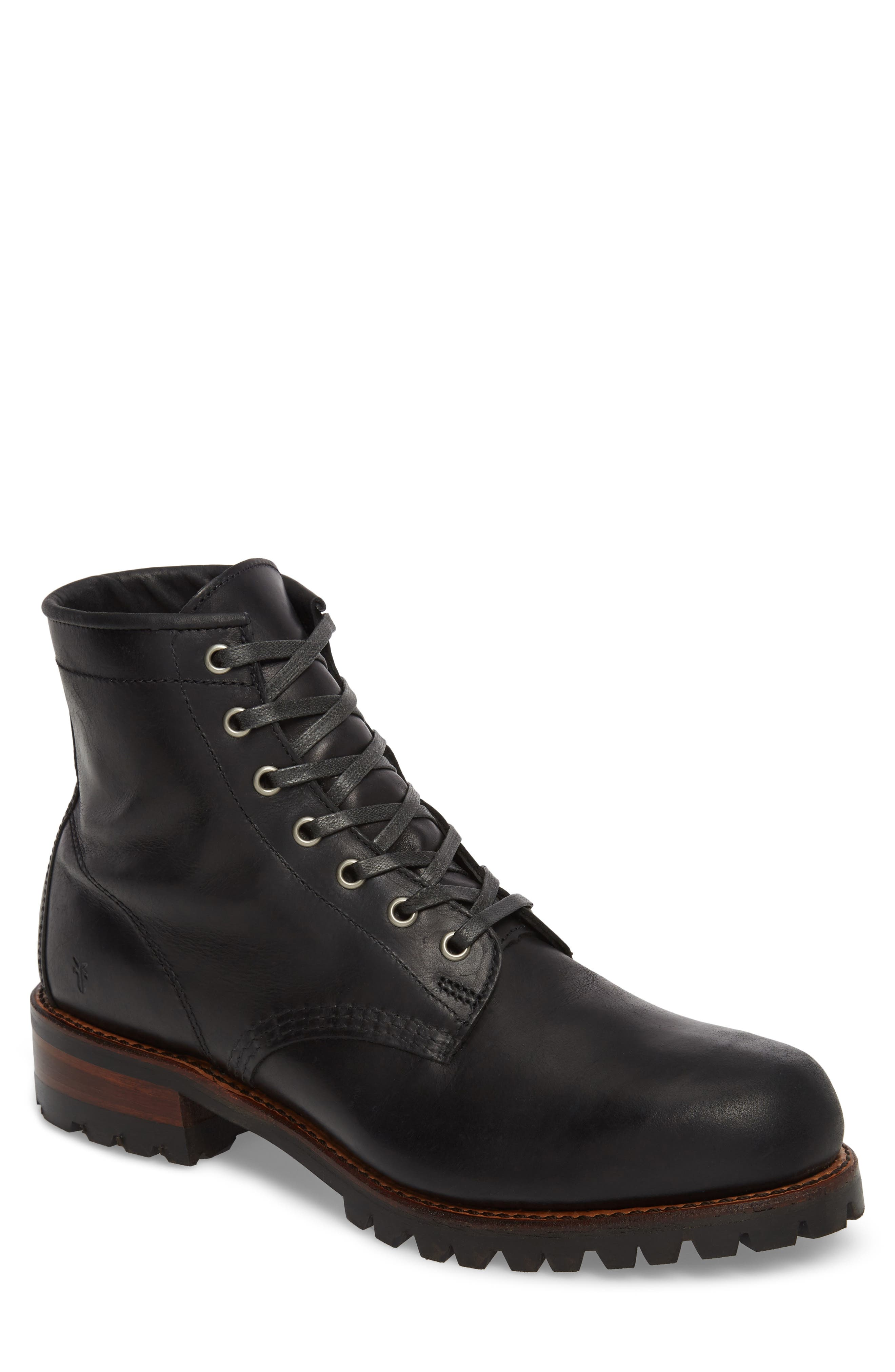 Addison Lace-Up Boot,                             Main thumbnail 1, color,                             001