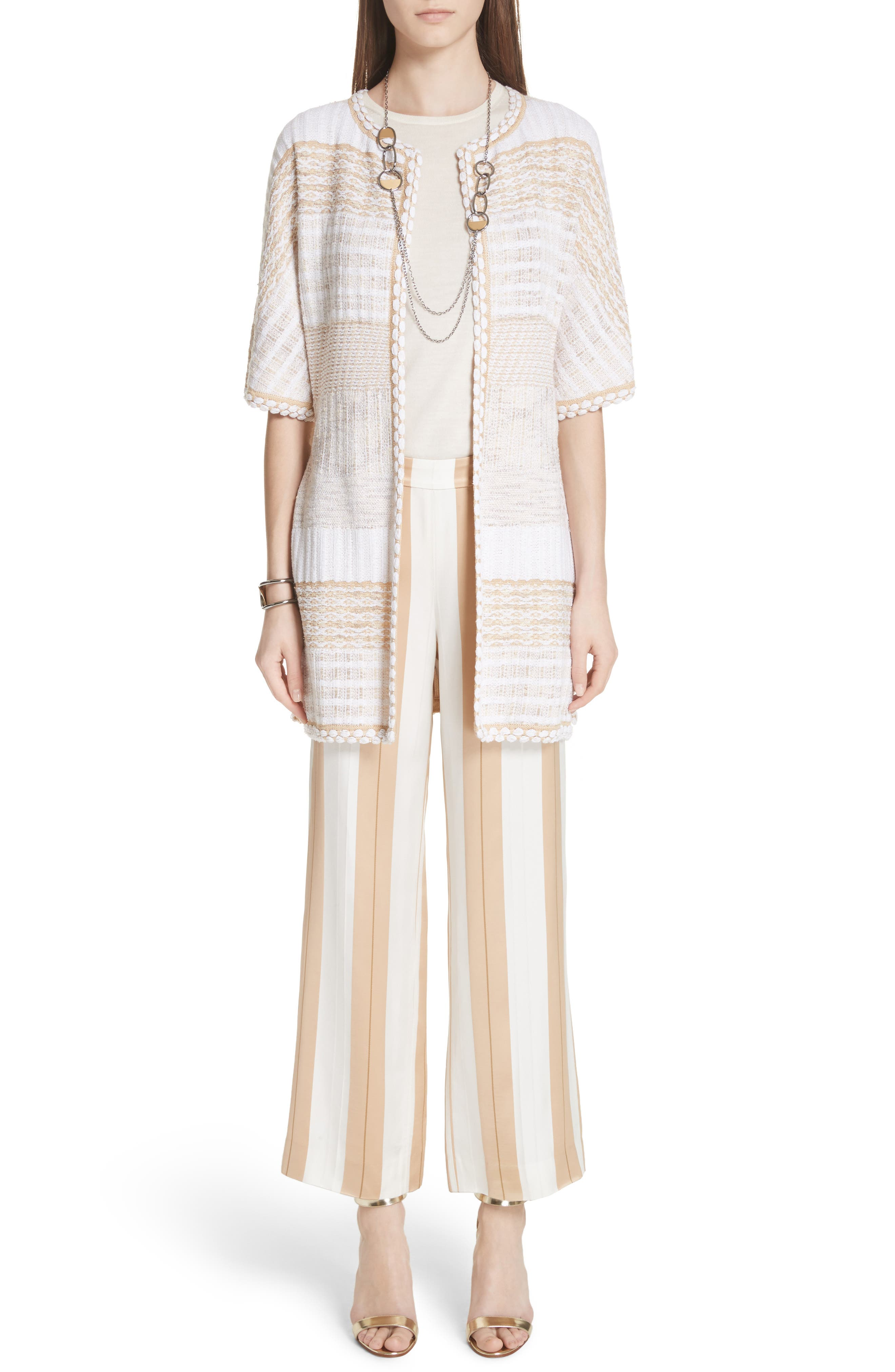 ST. JOHN COLLECTION,                             Mixed Floats Stripe Knit Jacket,                             Alternate thumbnail 7, color,                             700
