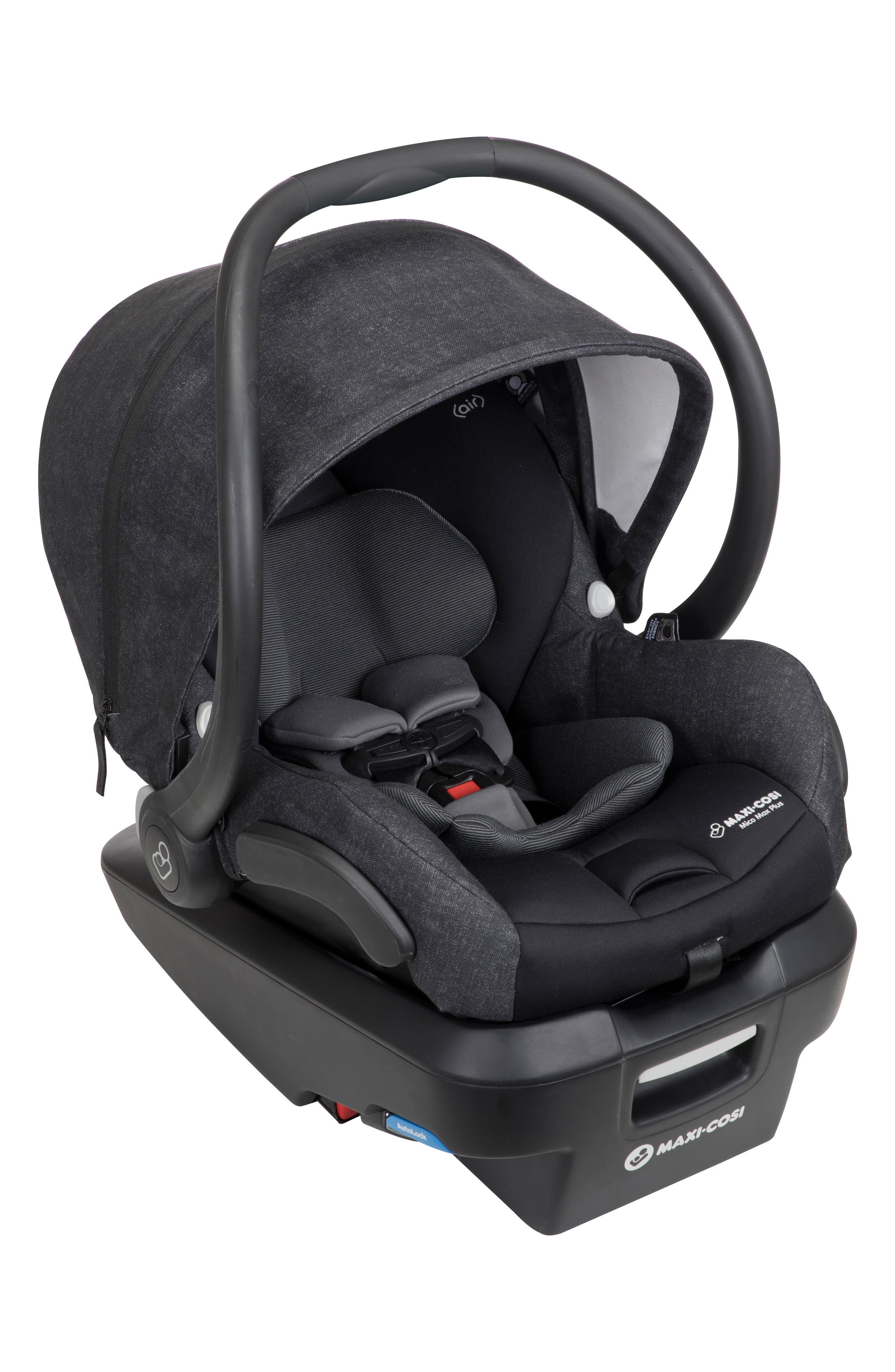 Mico Max Plus Infant Car Seat,                             Alternate thumbnail 9, color,                             NOMAD BLACK