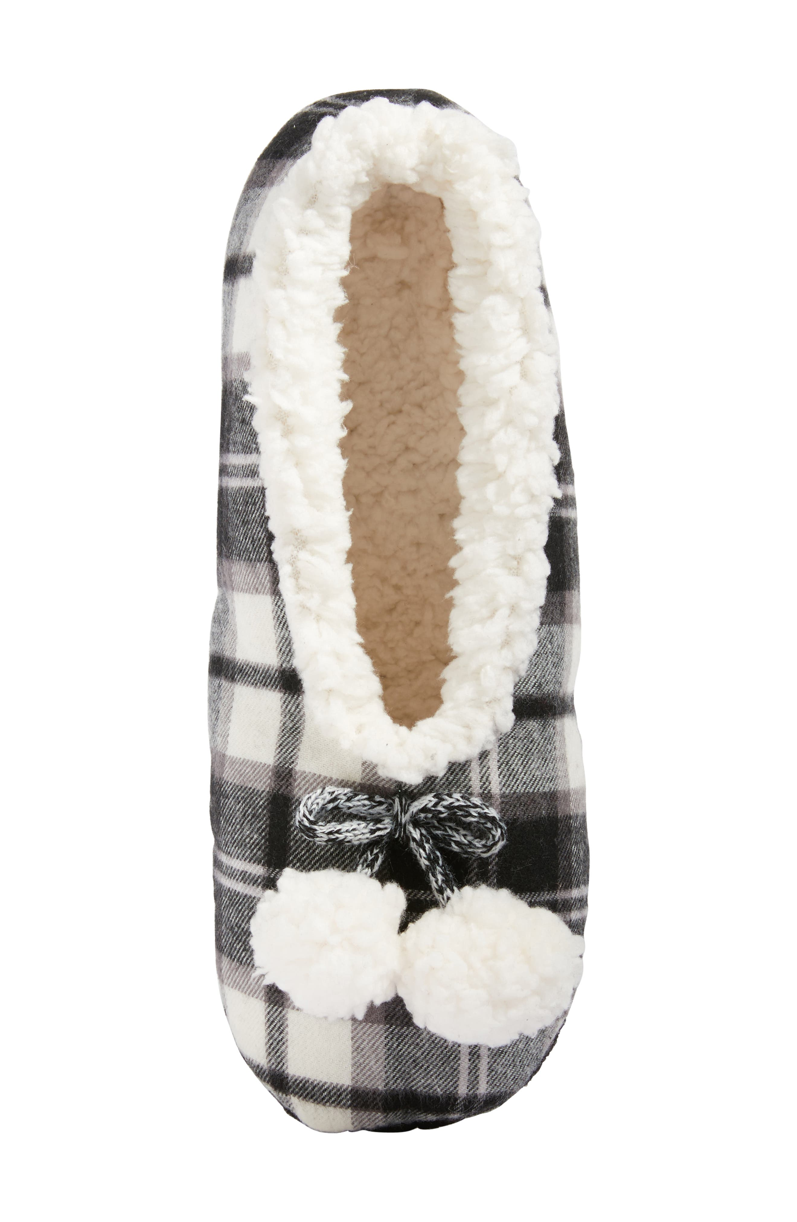 Plaid Slippers,                             Alternate thumbnail 5, color,                             002
