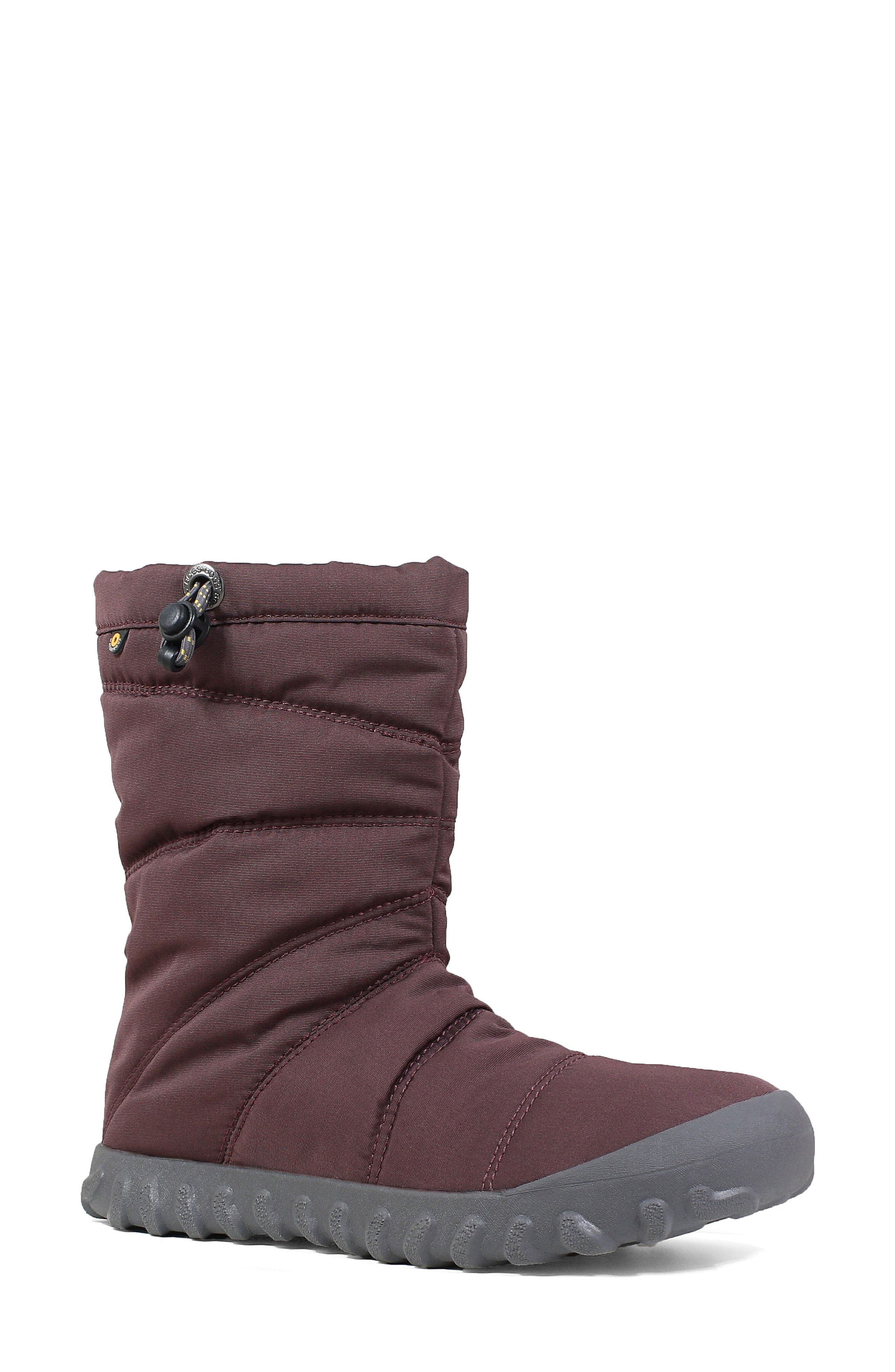Bogs Puffy Insulated Waterproof Boot, Purple