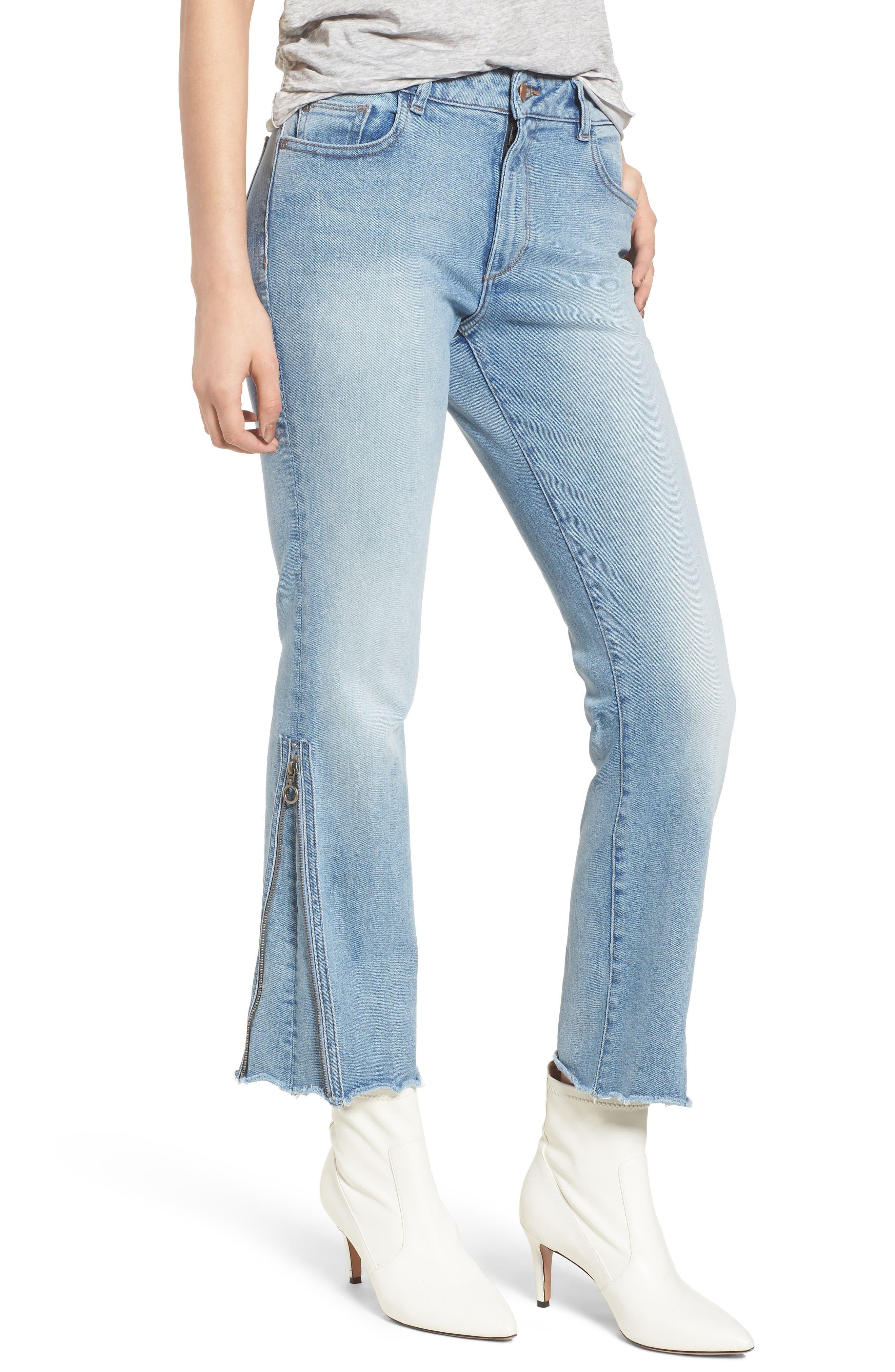 Mara Instasculpt Ankle Straight Leg Jeans,                         Main,                         color, MARINA