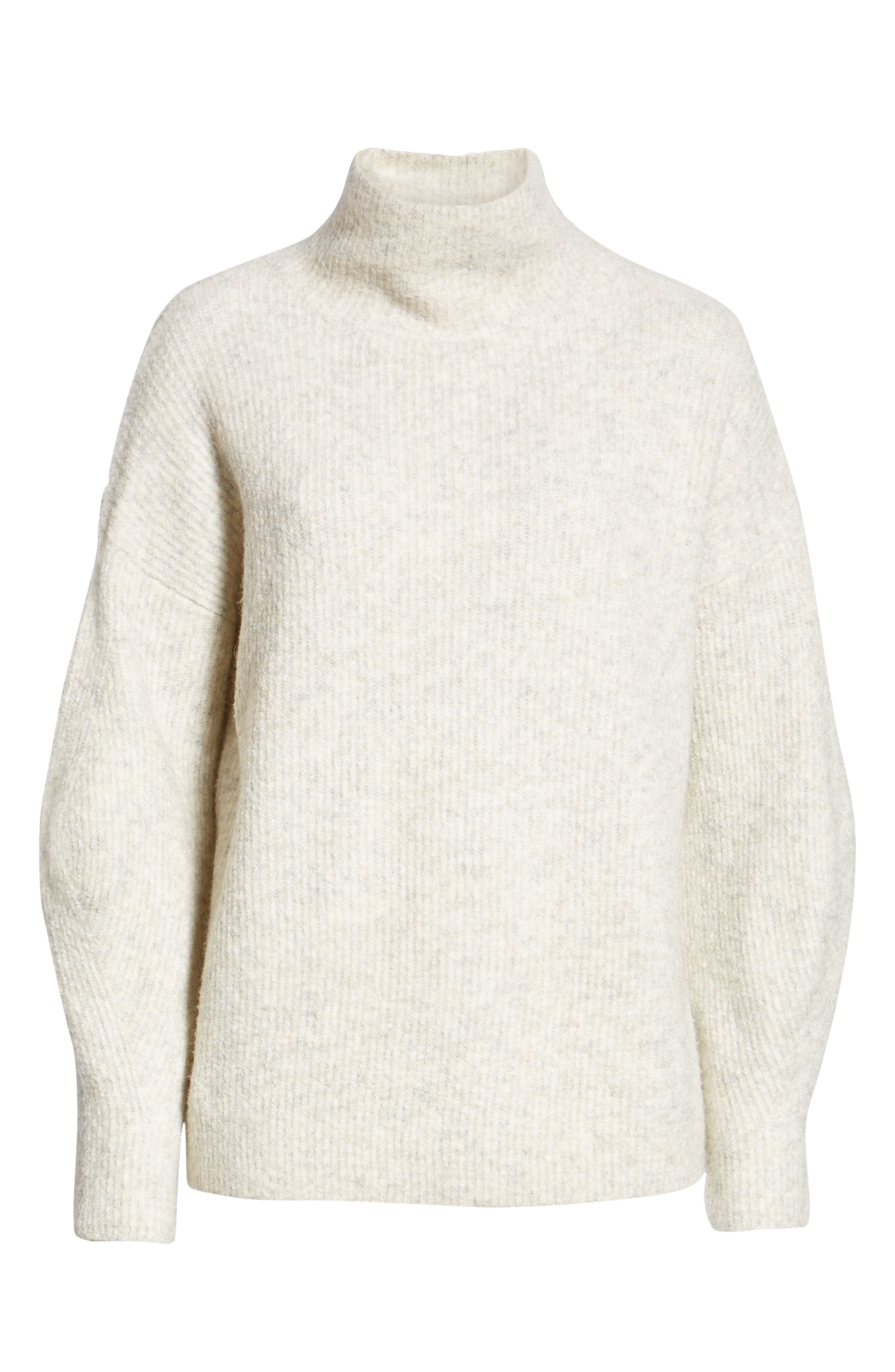 Urban Flossy Cowl Neck Sweater,                             Alternate thumbnail 6, color,                             OATMEAL