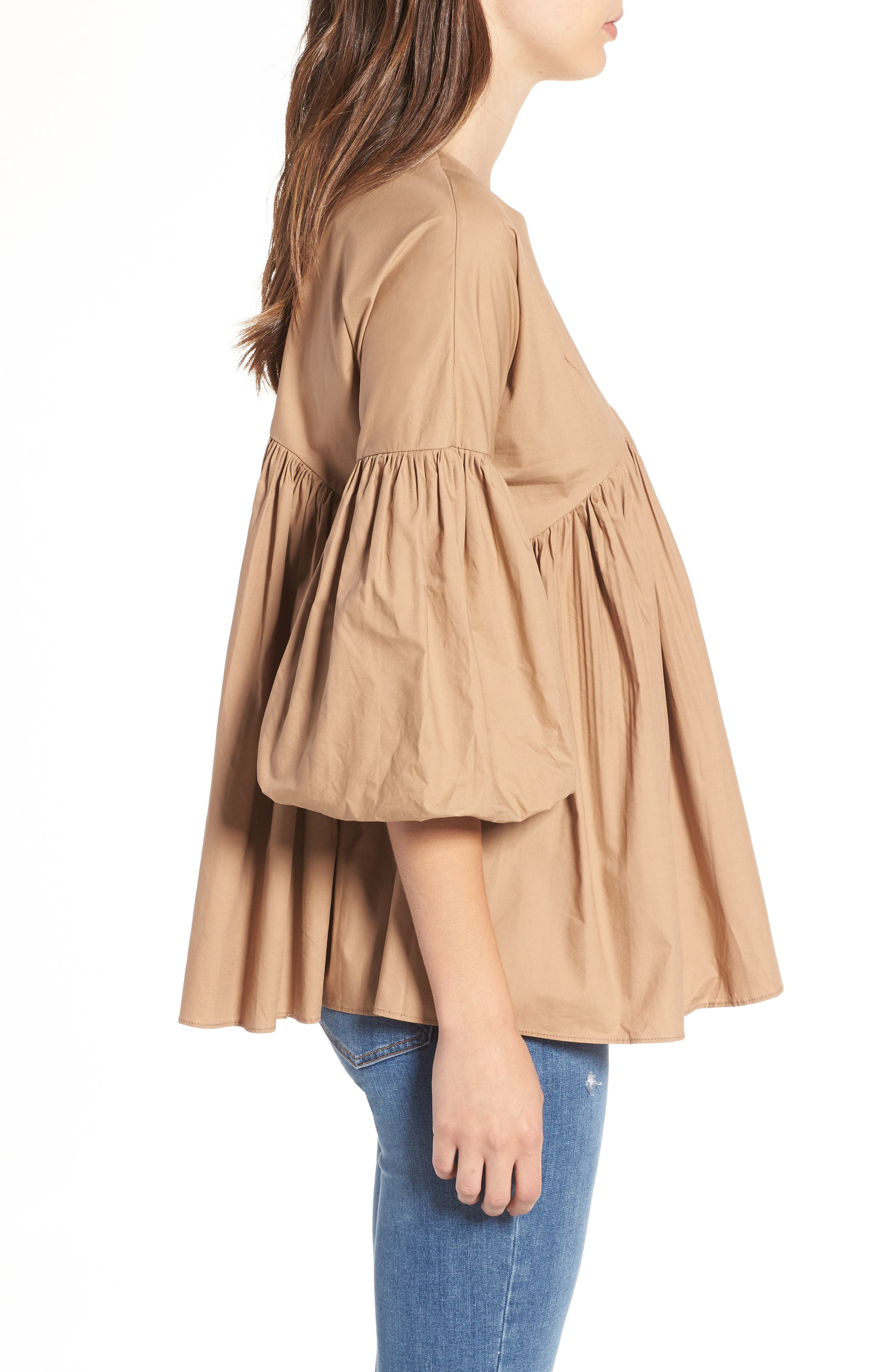 Pleated Swing Top,                             Alternate thumbnail 3, color,                             250