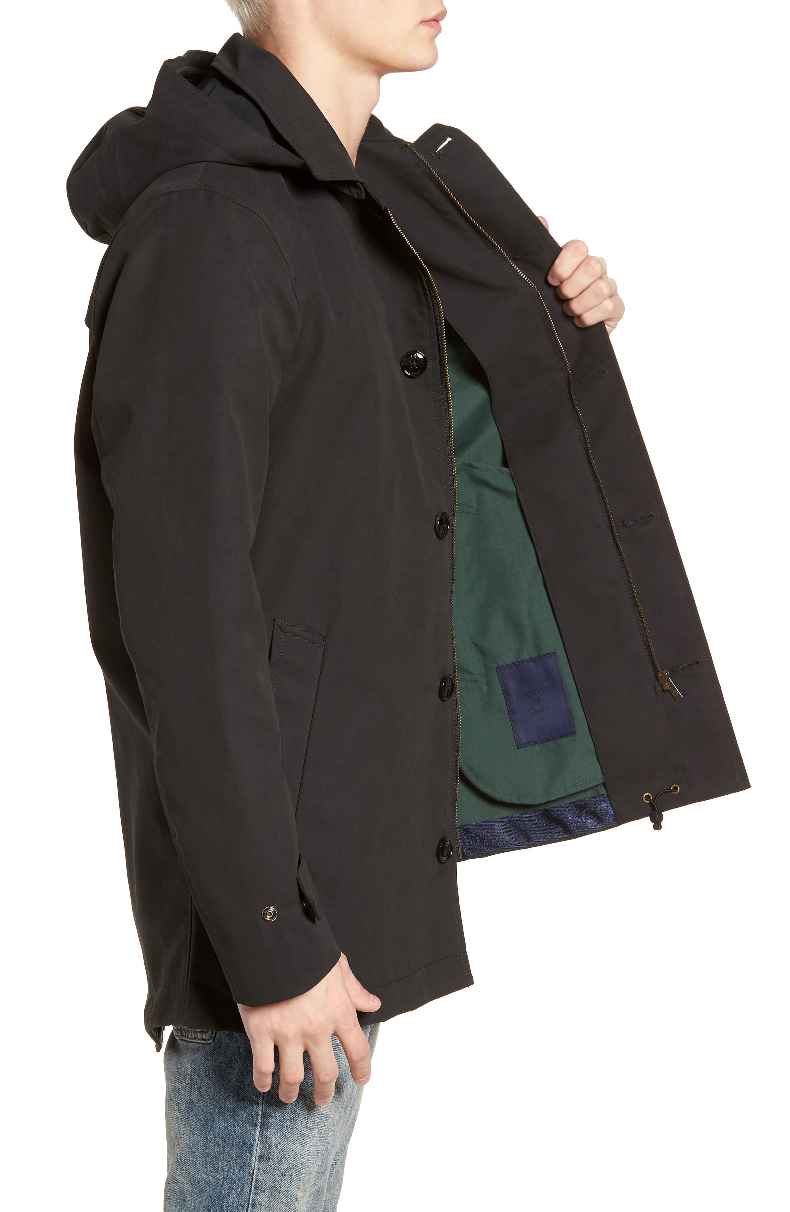 Classic Hooded Parka,                             Alternate thumbnail 6, color,