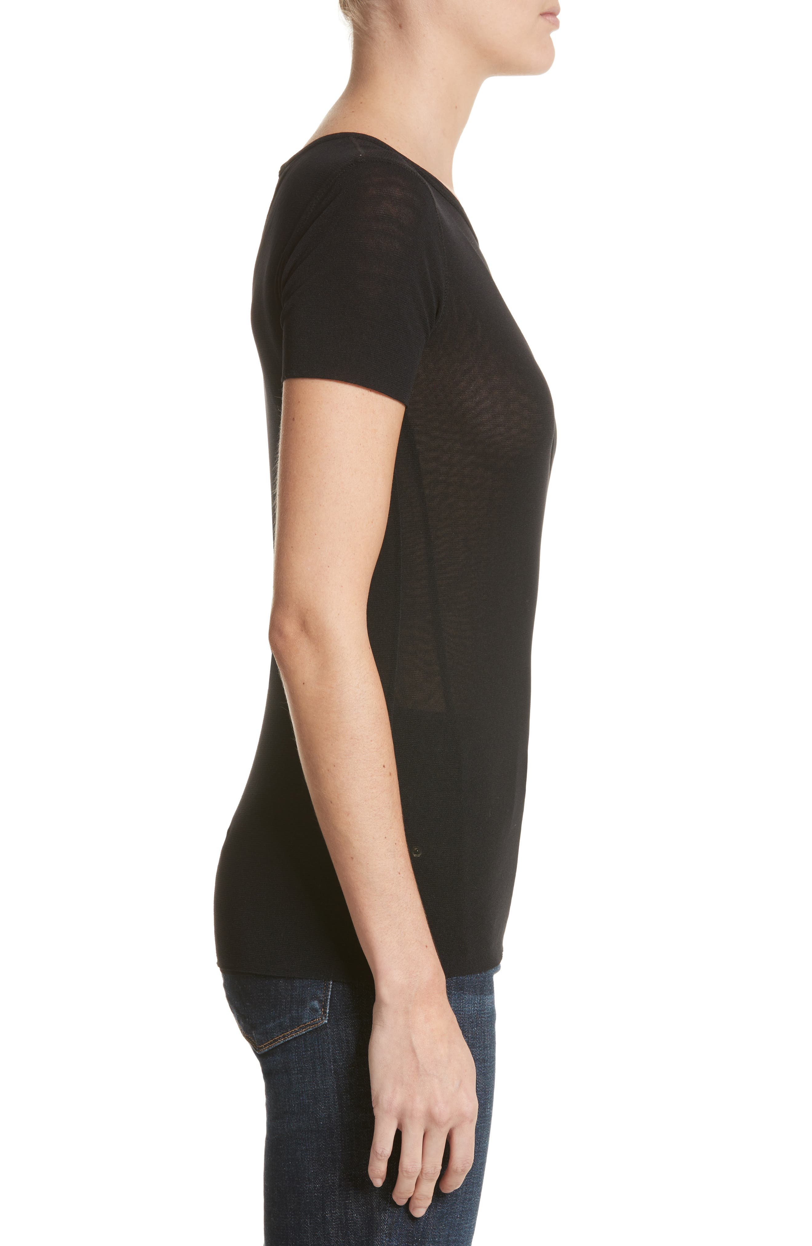 Double Layer Tulle Tee,                             Alternate thumbnail 3, color,