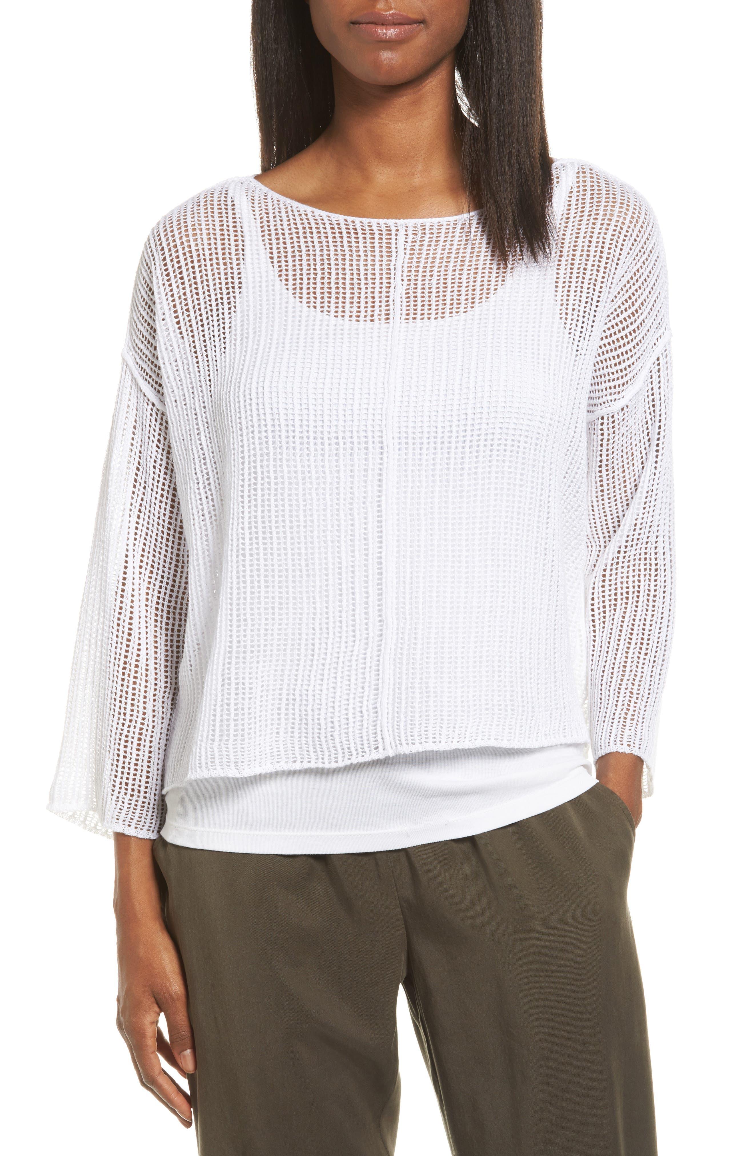 Organic Linen Crop Sweater,                             Main thumbnail 2, color,