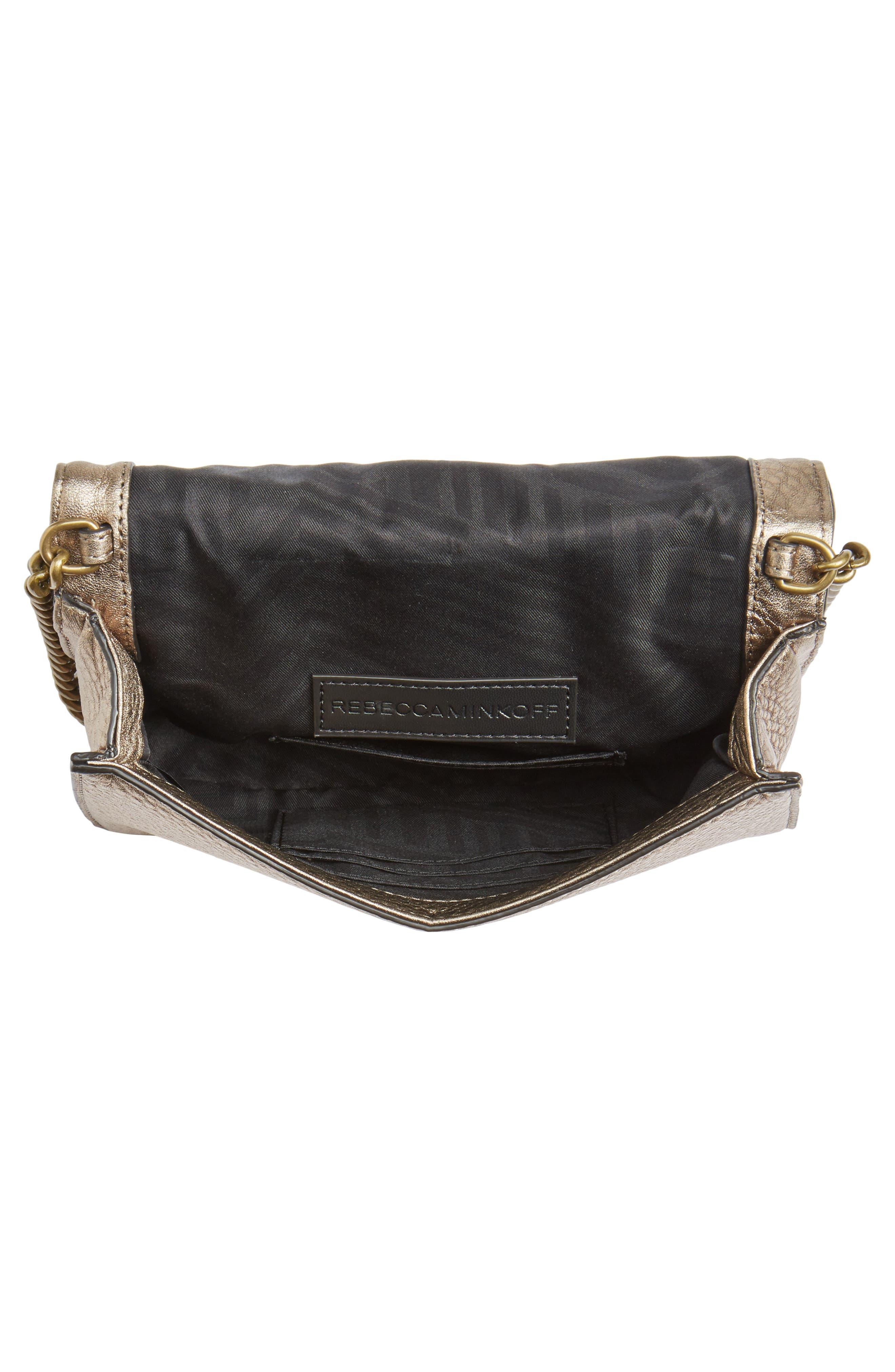 Small Love Metallic Leather Crossbody Bag,                             Alternate thumbnail 12, color,