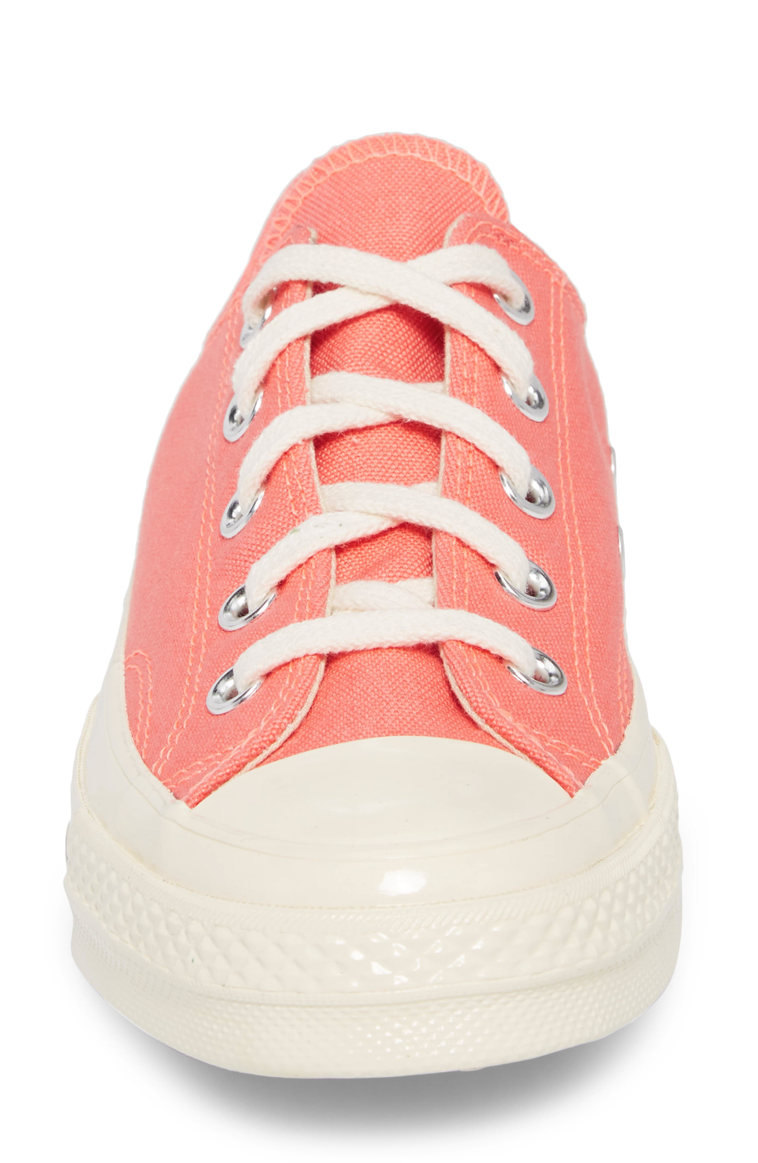 Chuck Taylor<sup>®</sup> All Star<sup>®</sup> '70s Brights Low Top Sneaker,                             Alternate thumbnail 4, color,                             CRIMSON PULSE