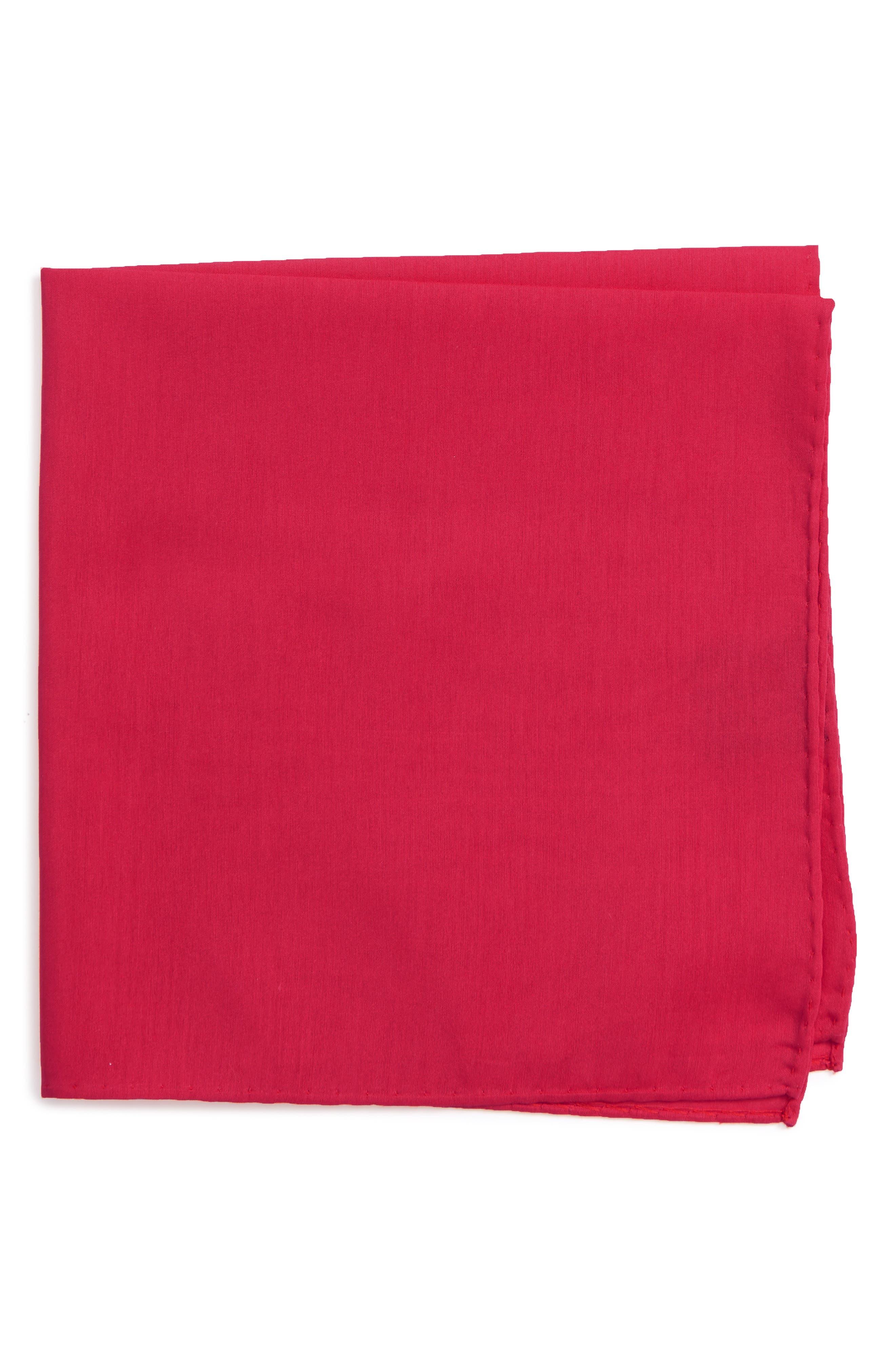 Solid Cotton & Silk Pocket Square,                             Main thumbnail 7, color,