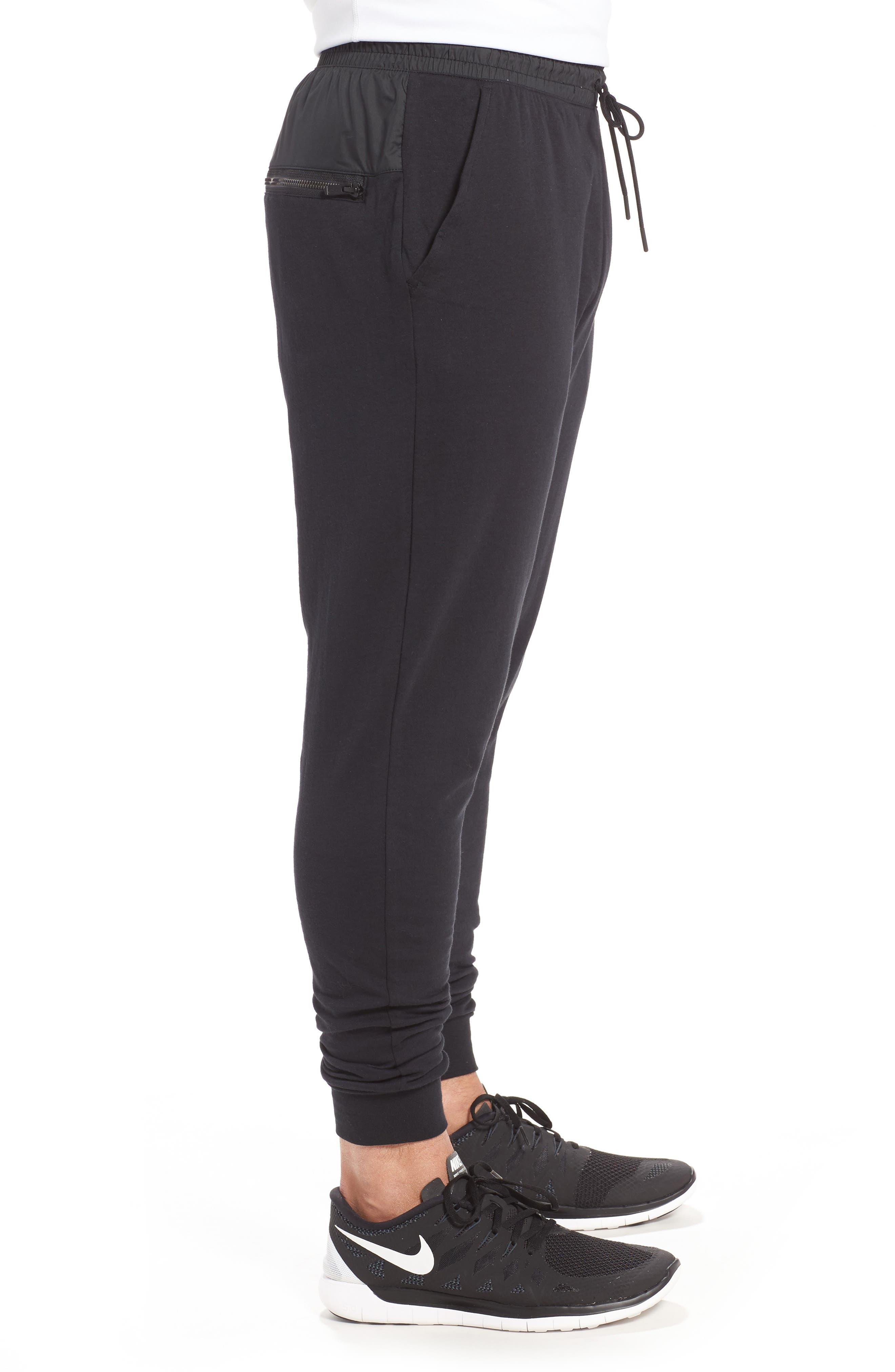 Modern Jogger Pants,                             Alternate thumbnail 3, color,                             BLACK/ BLACK