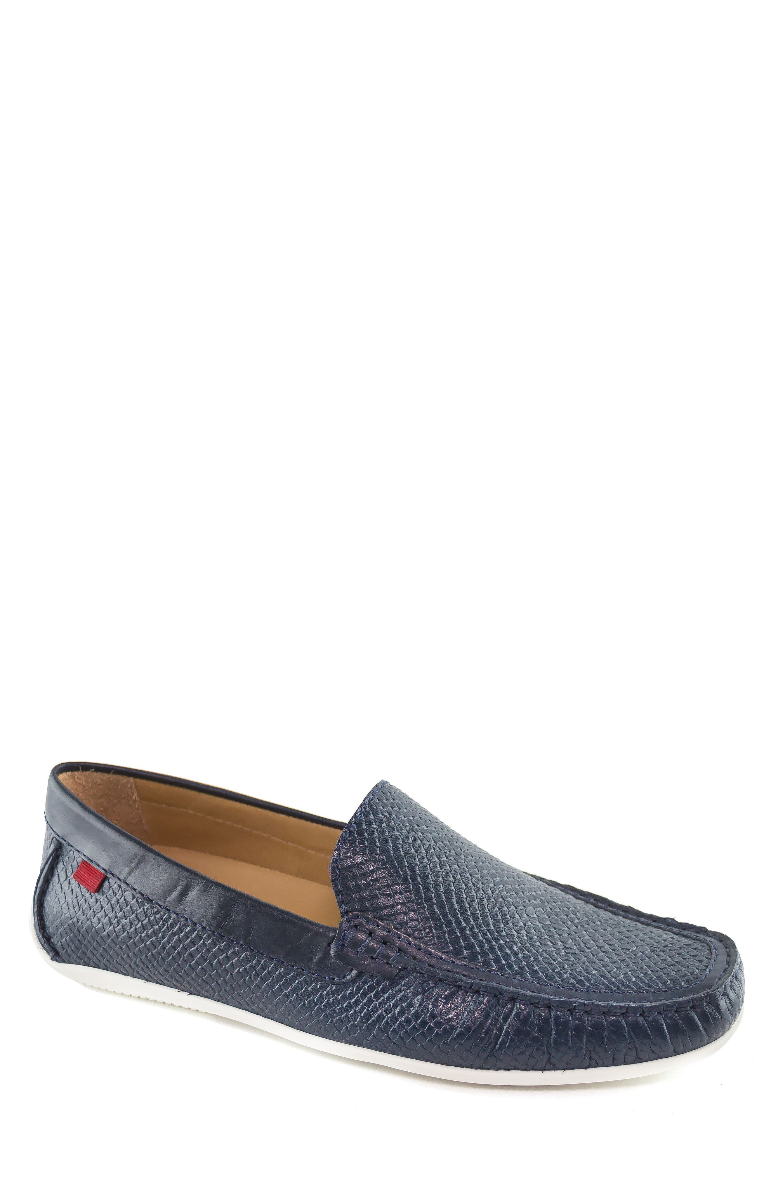 Broadway 2 Cobra Embossed Loafer,                             Main thumbnail 1, color,                             NAVY COBRA LEATHER