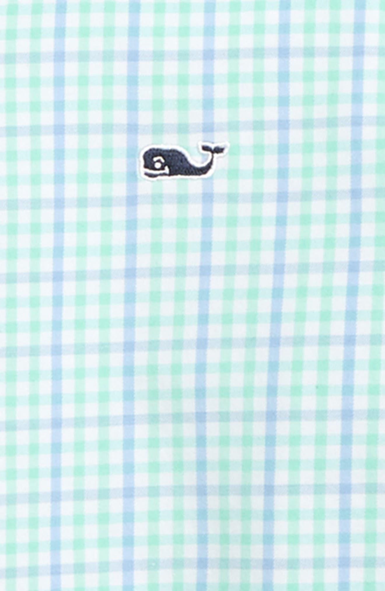VINEYARD VINES,                             Windowpane Check Performance Whale Shirt,                             Alternate thumbnail 2, color,                             MARINA