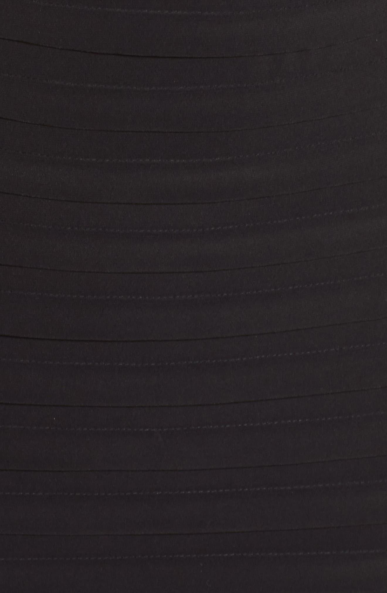 Banded Sheath Dress,                             Alternate thumbnail 5, color,                             002