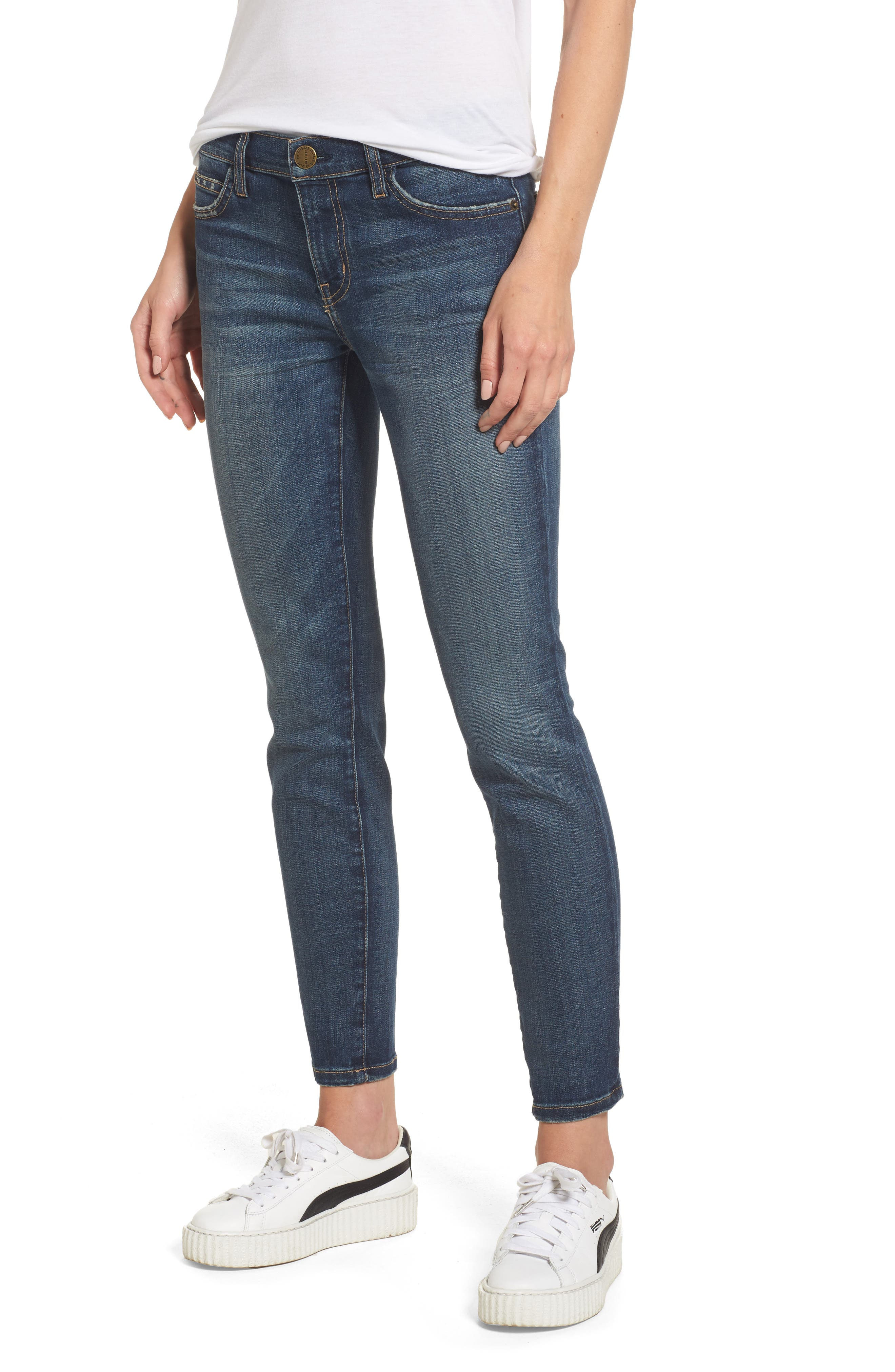 'The Stiletto' Stretch Jeans,                             Alternate thumbnail 3, color,