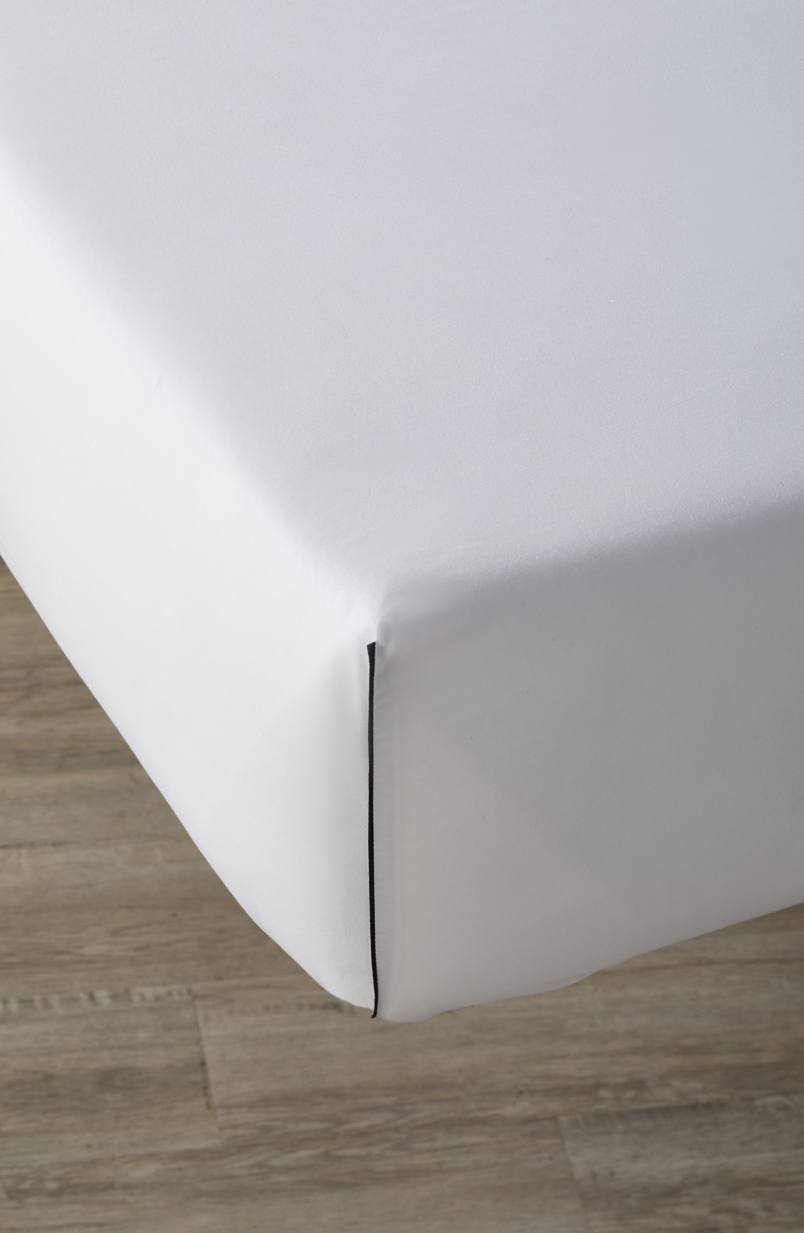 Series 1 500 Thread Count Fitted Sheet,                         Main,                         color, 001