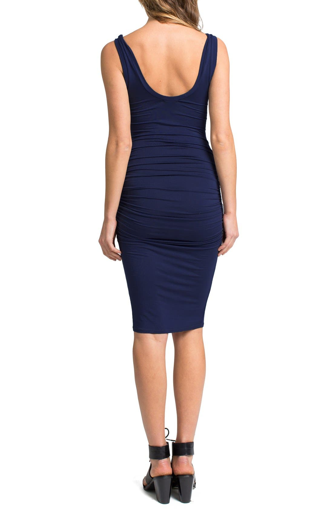 'Frankie' Ruched Tank Dress,                             Alternate thumbnail 13, color,