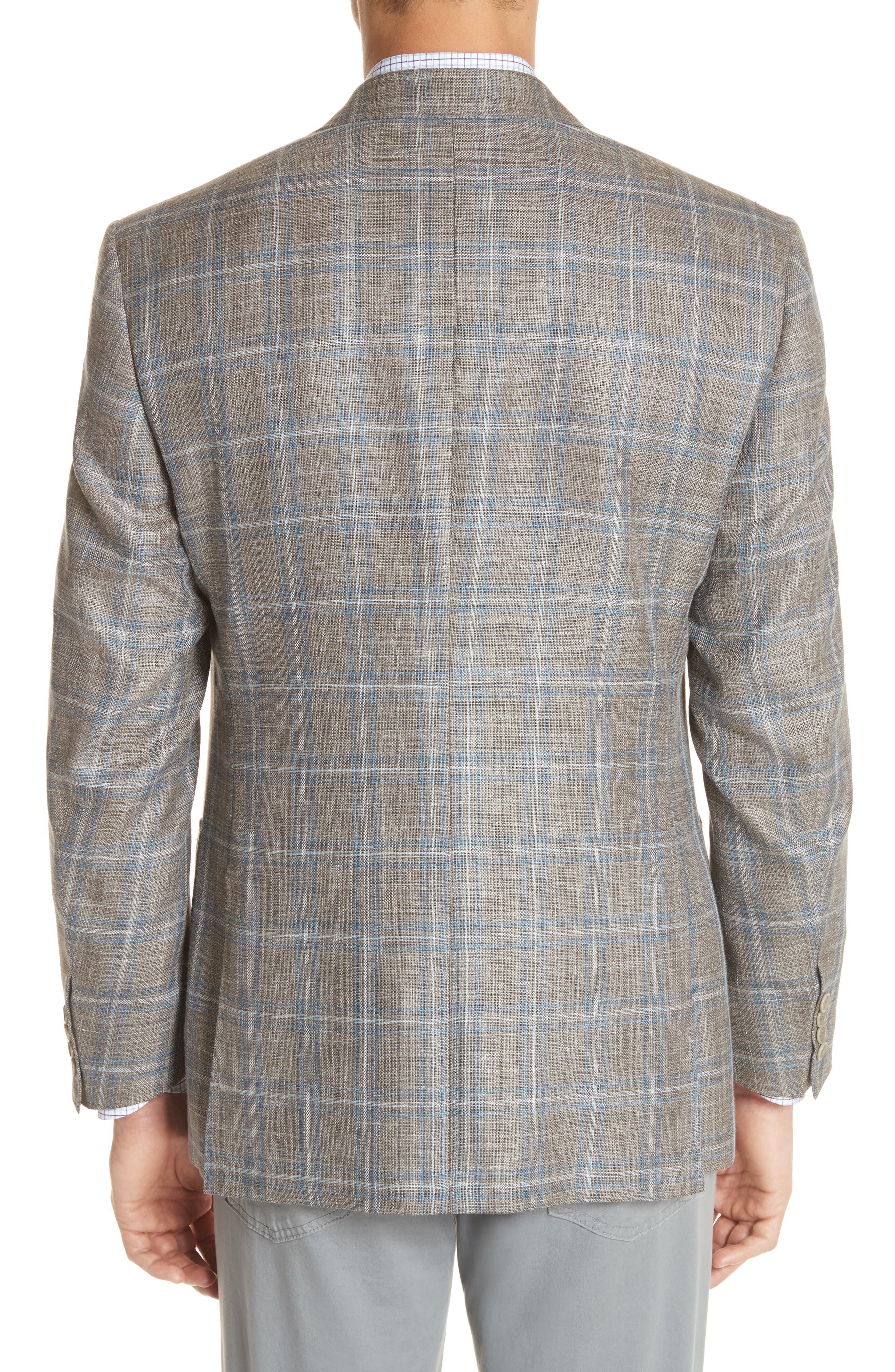 CANALI,                             Kei Classic Fit Windowpane Wool Blend Sport Coat,                             Alternate thumbnail 2, color,                             250